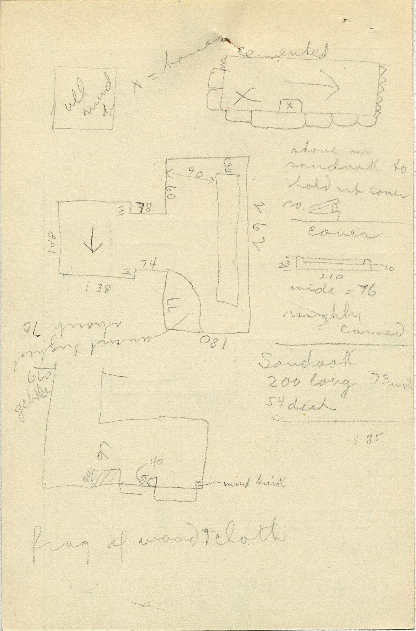 Maps and plans: G 2352, Shaft B, notes