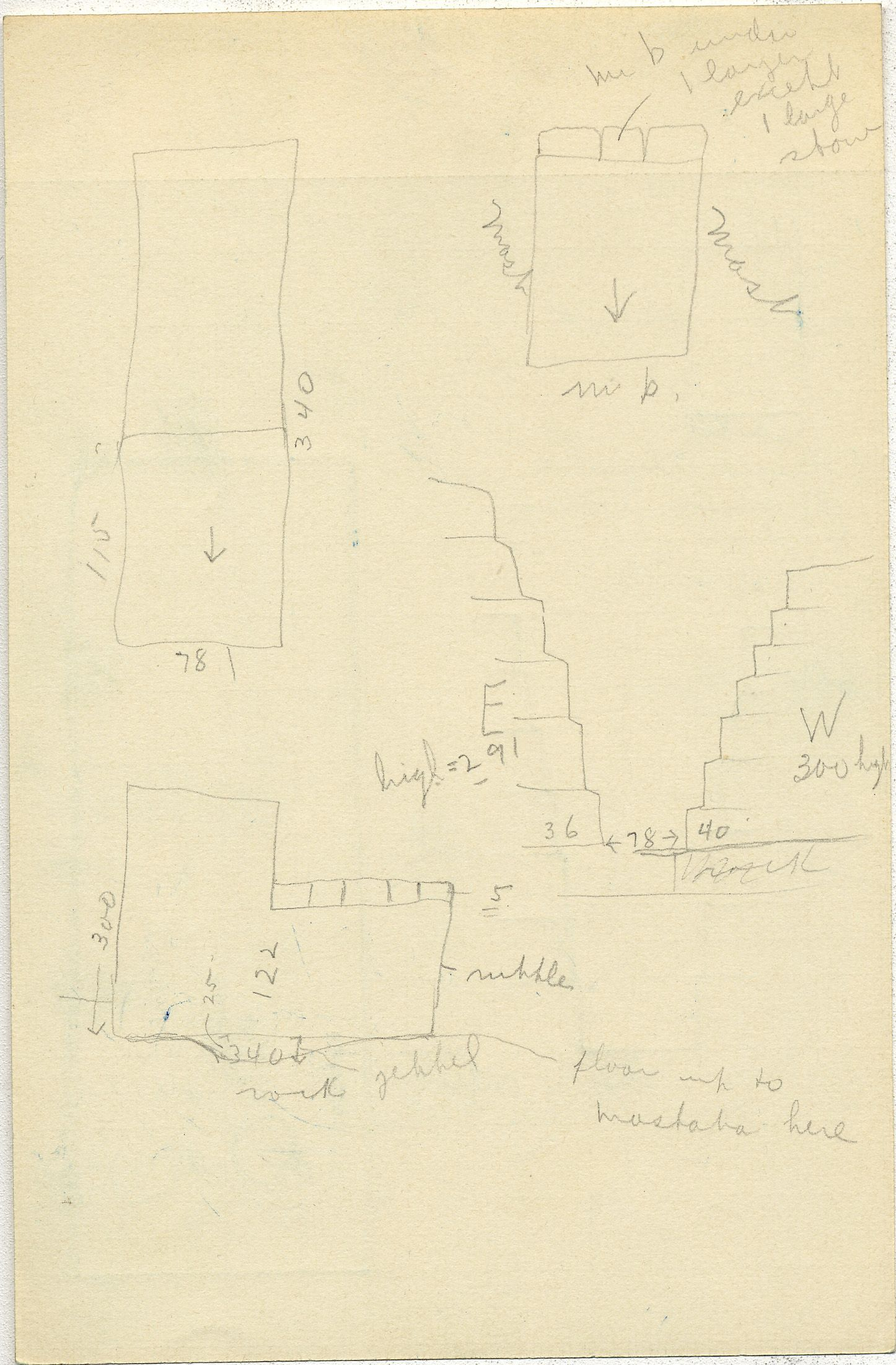 Maps and plans: G 2352, Shaft U, notes
