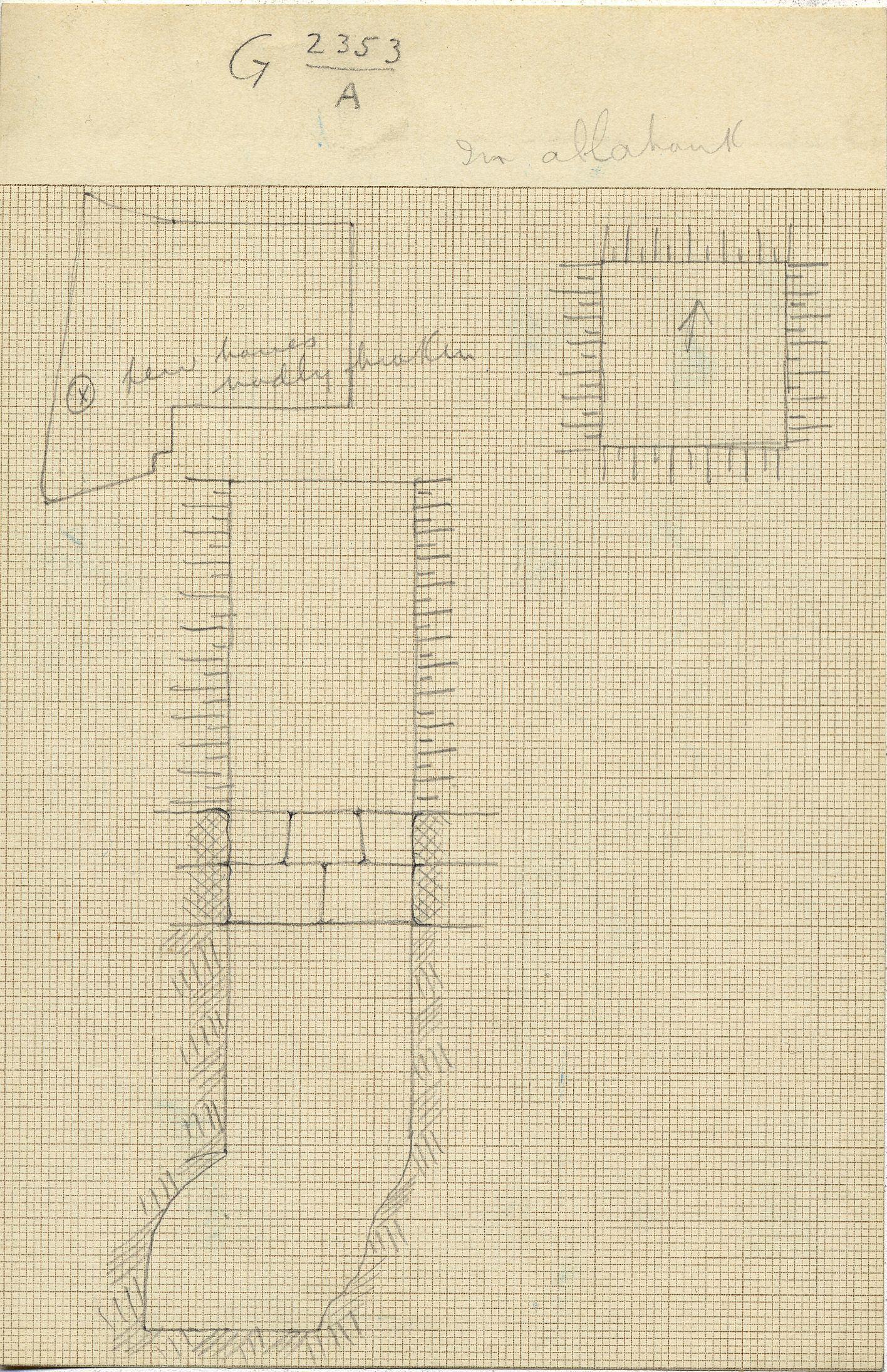 Maps and plans: G 2353, Shaft A