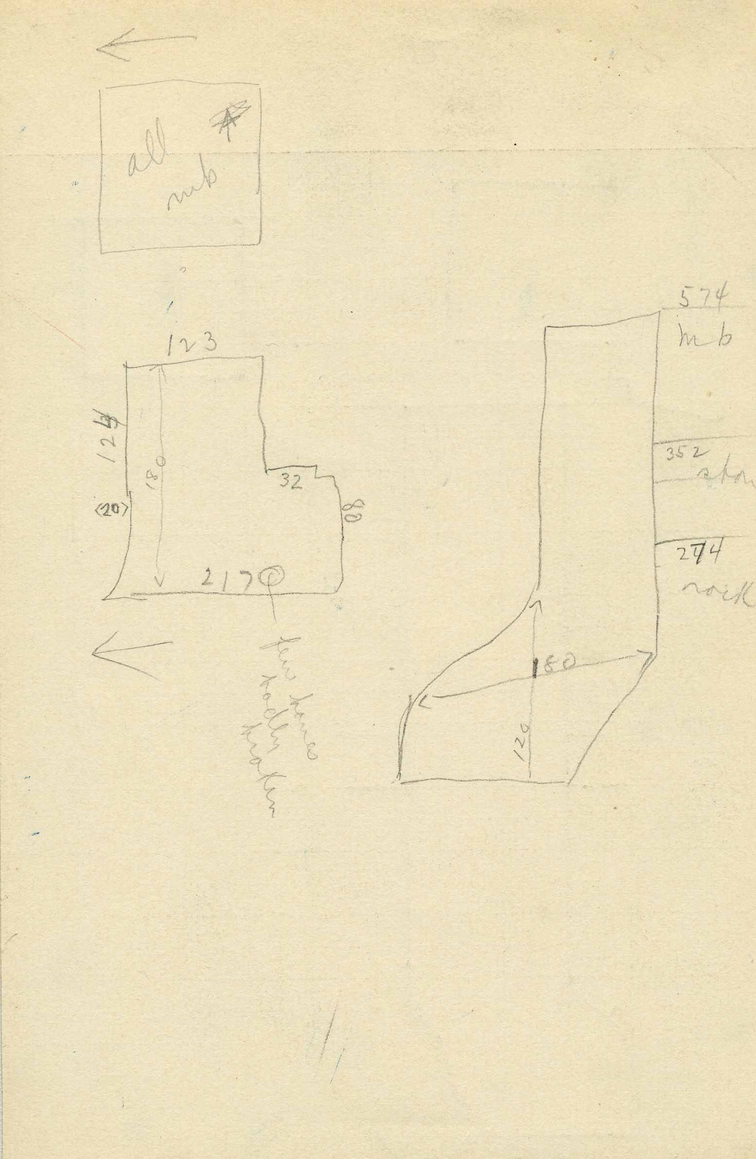 Maps and plans: G 2353, Shaft A, notes