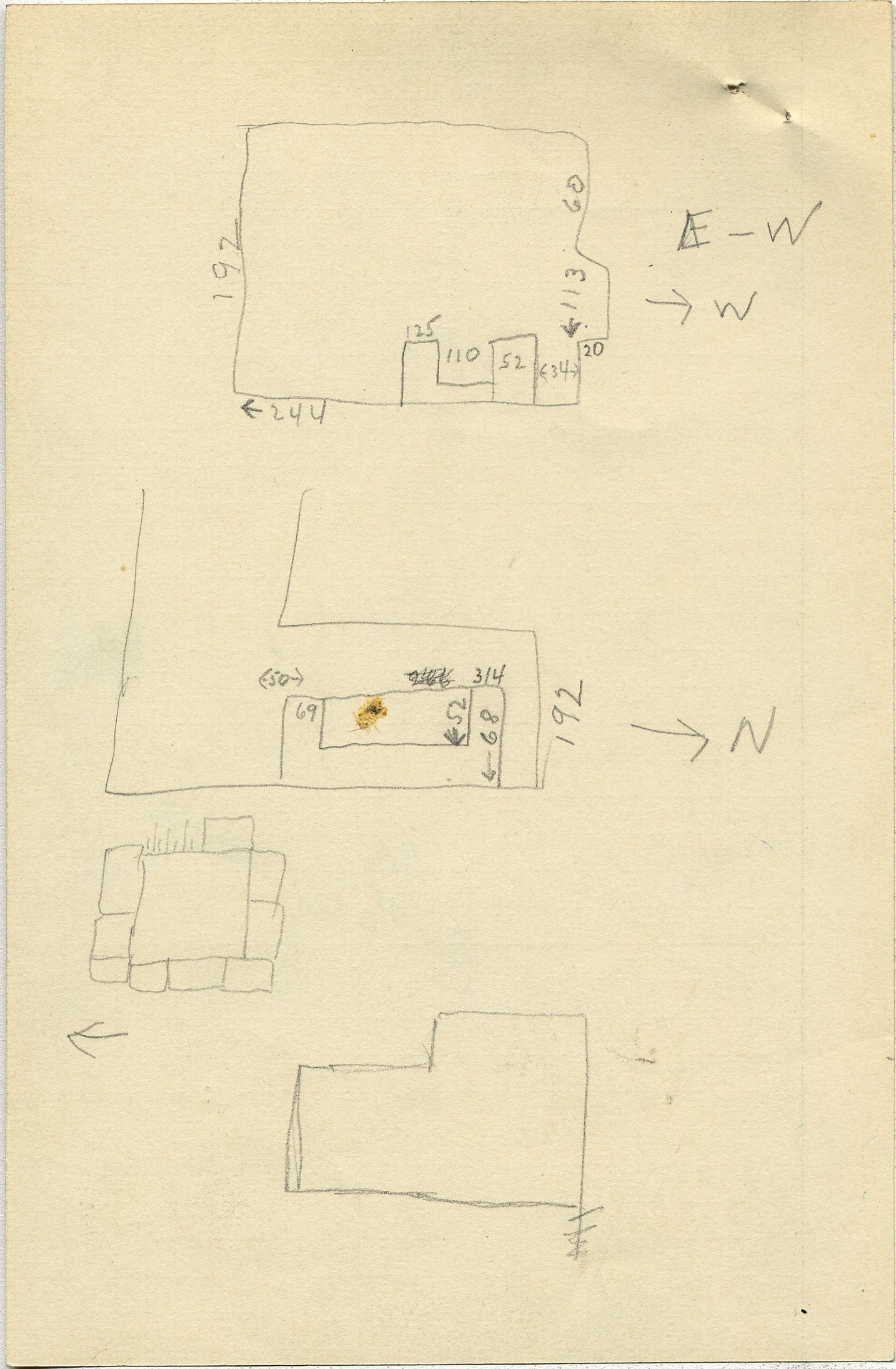Maps and plans: G 2353, Shaft B, notes