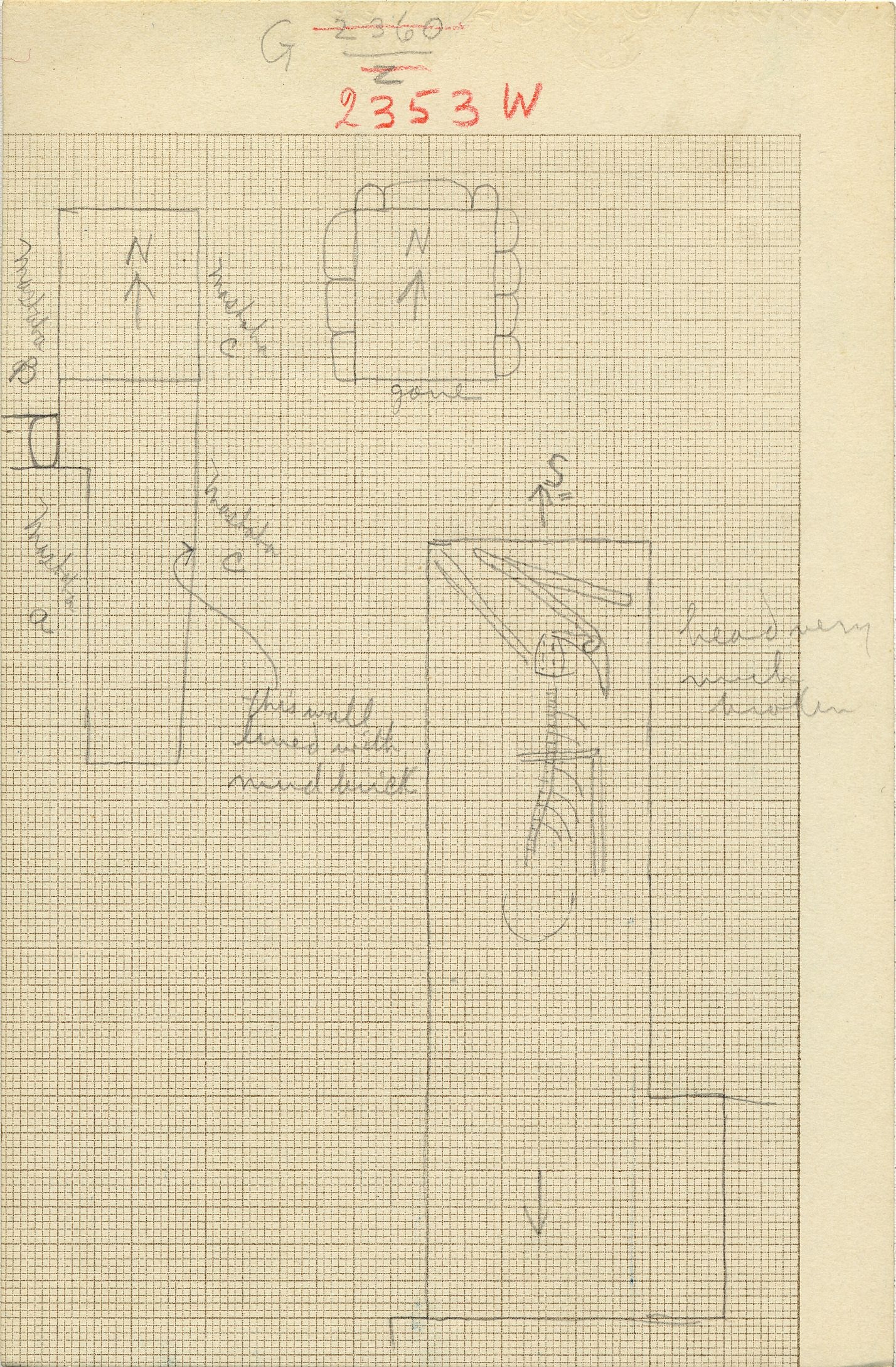 Maps and plans: G 2353, Shaft W