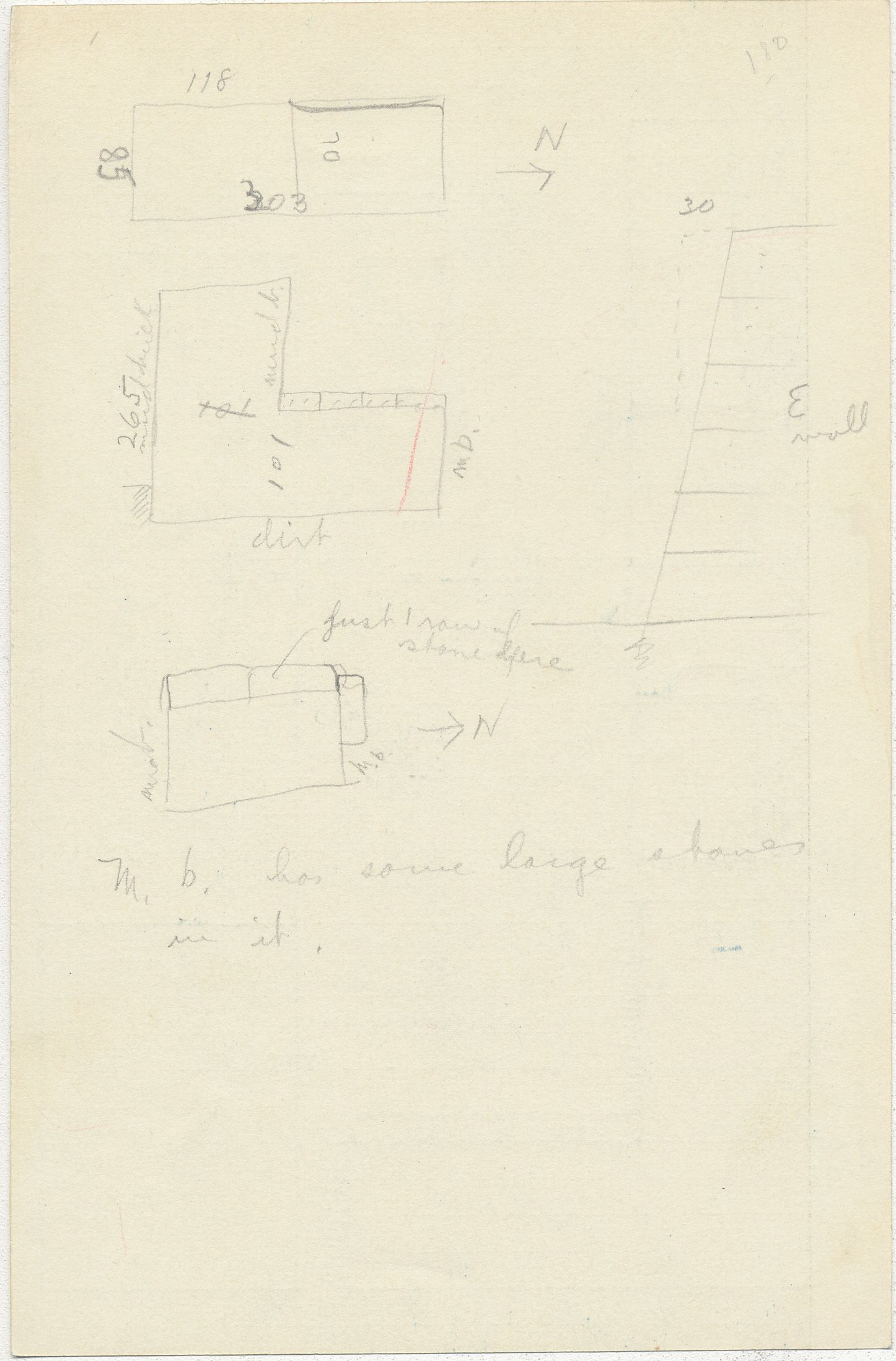 Maps and plans: G 2353, Shaft Y, notes