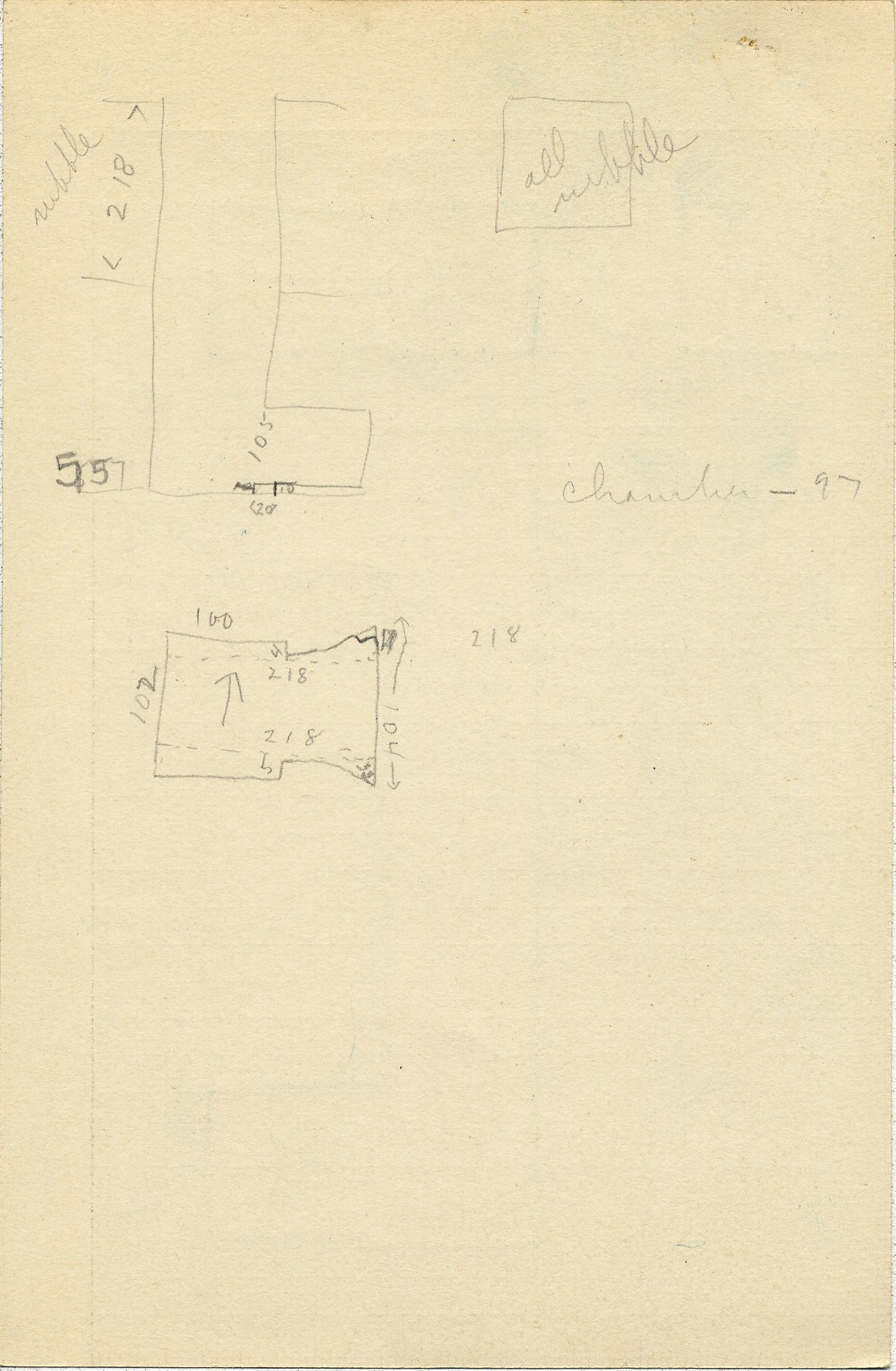 Maps and plans: G 2360, Shaft E, notes