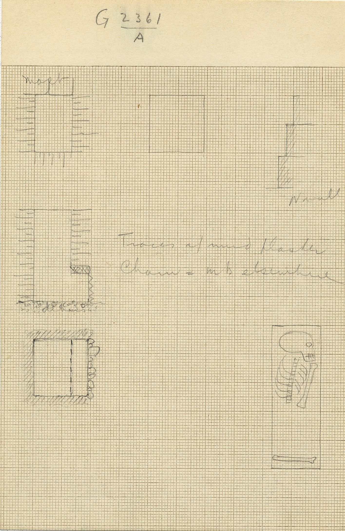Maps and plans: G 2361, Shaft A