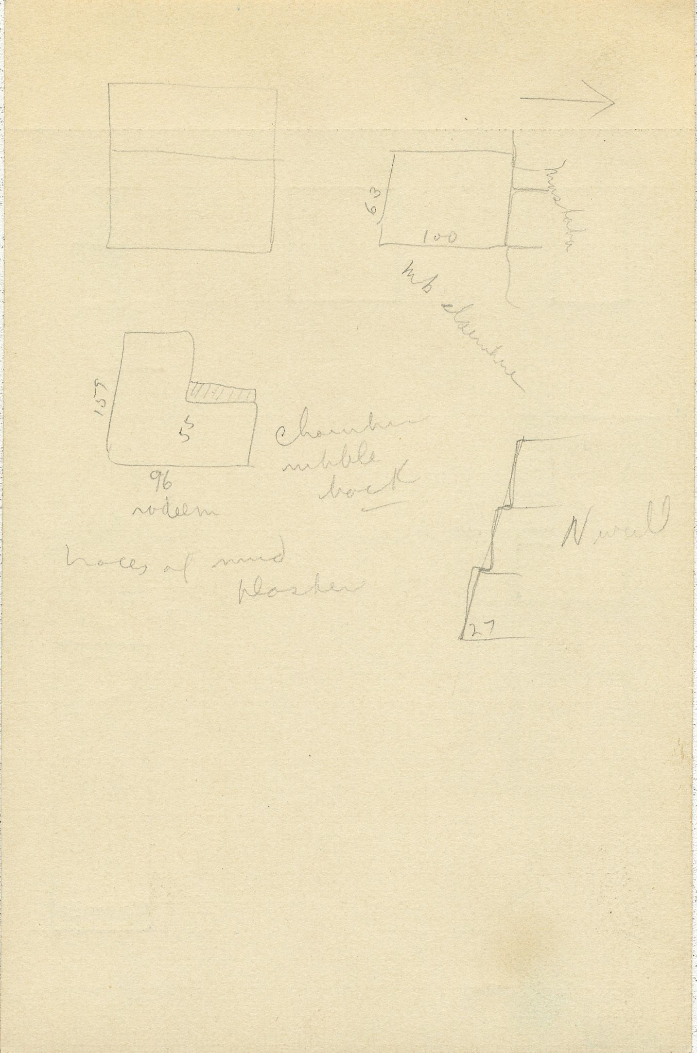Maps and plans: G 2361, Shaft A, notes