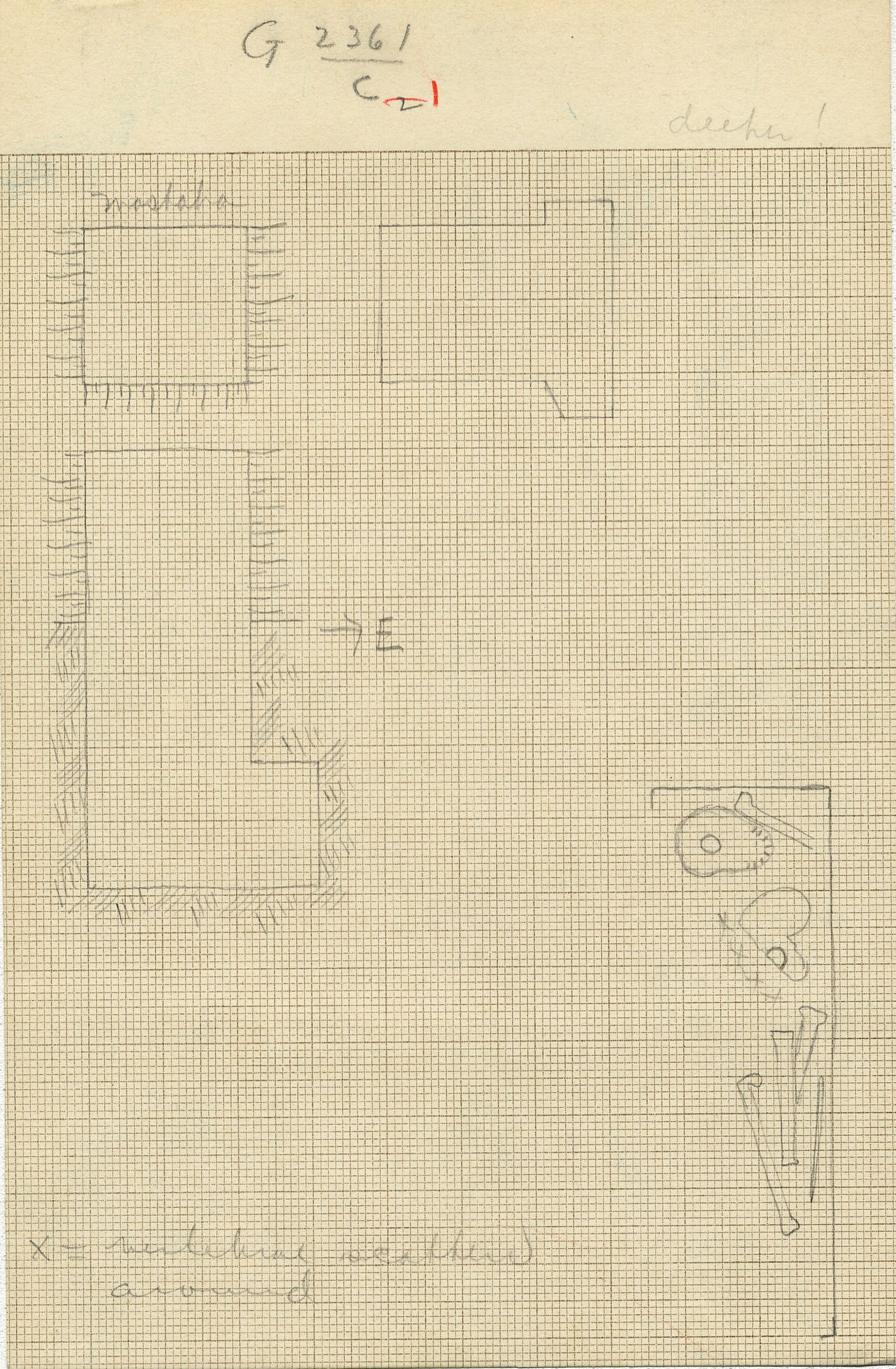 Maps and plans: G 2361, Shaft C (1)