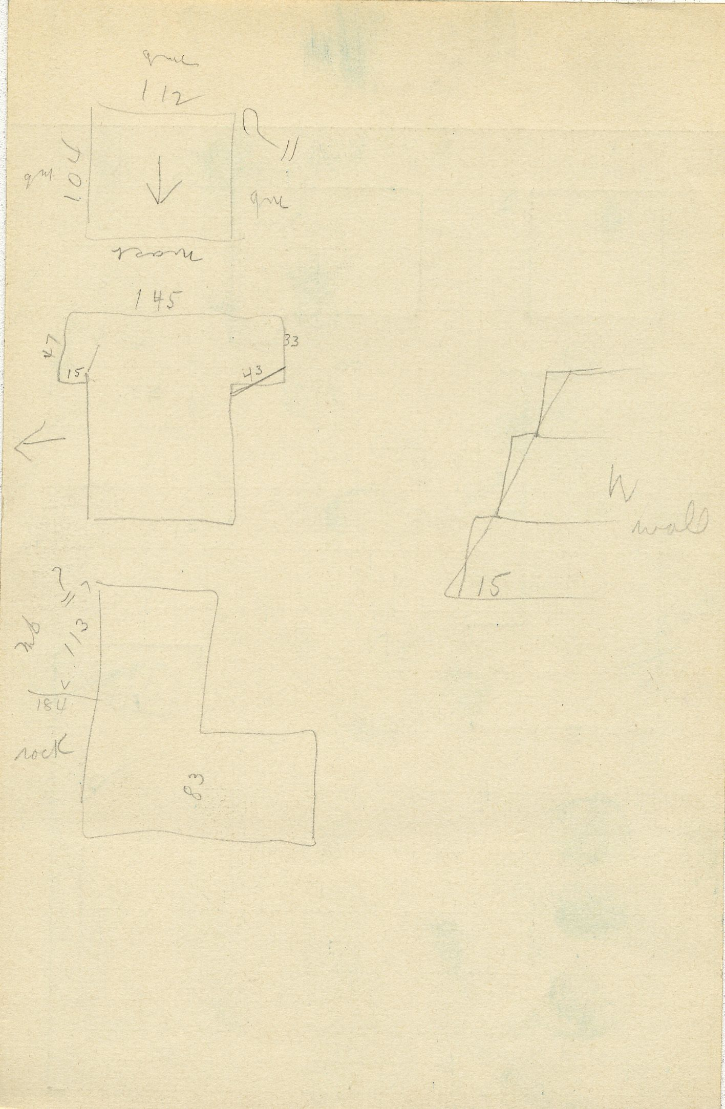 Maps and plans: G 2361, Shaft C (1), notes
