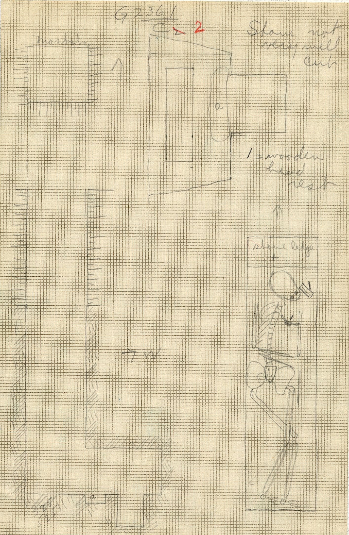 Maps and plans: G 2361, Shaft C (2)