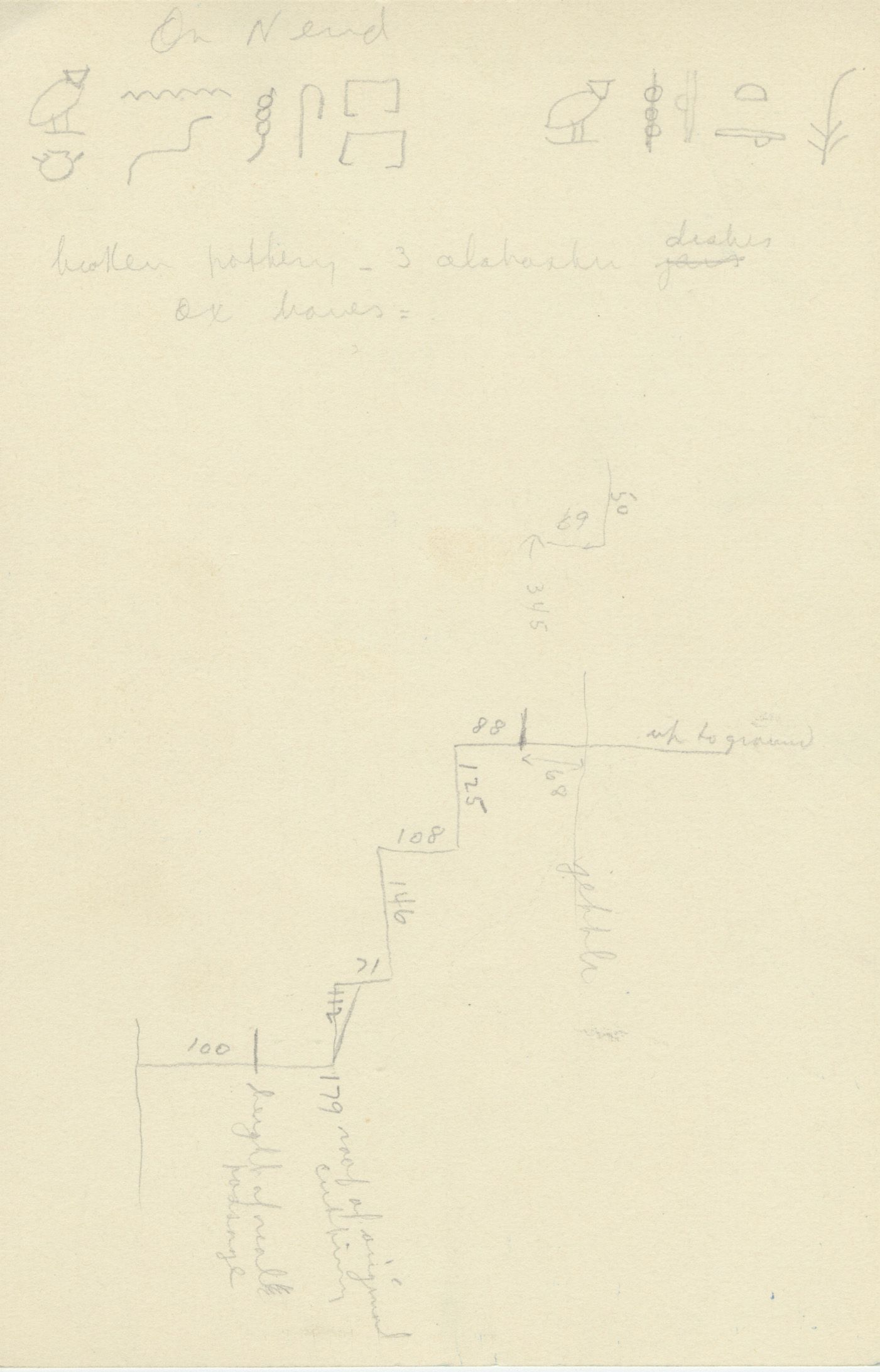 Maps and plans: G 2370, Shaft B, notes