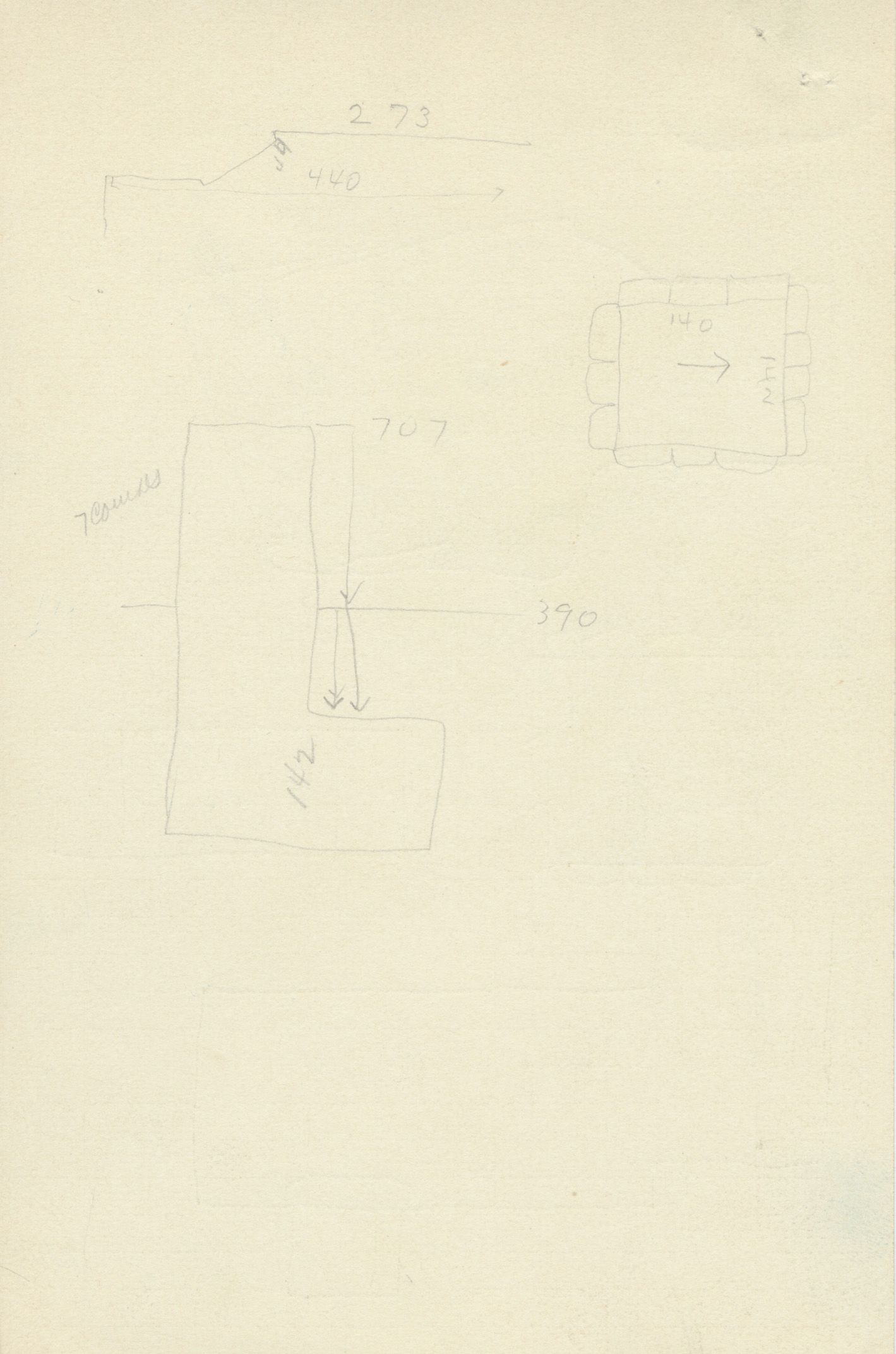Maps and plans: G 2375, Shaft A, notes