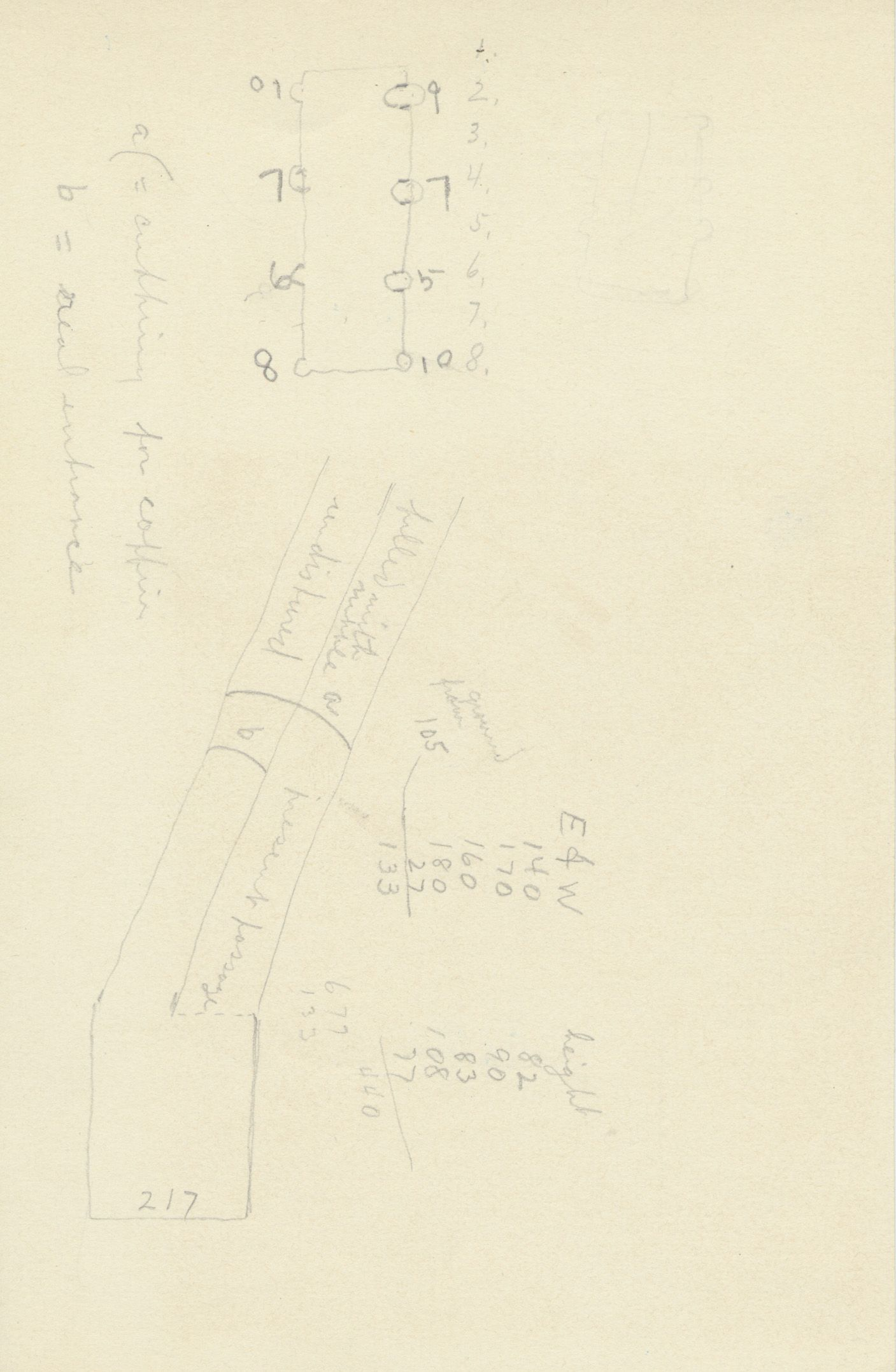 Maps and plans: G 2378, Shaft A, notes
