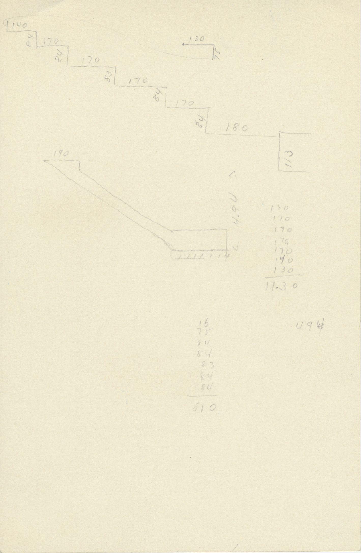 Maps and plans: G 2382, Shaft A, notes