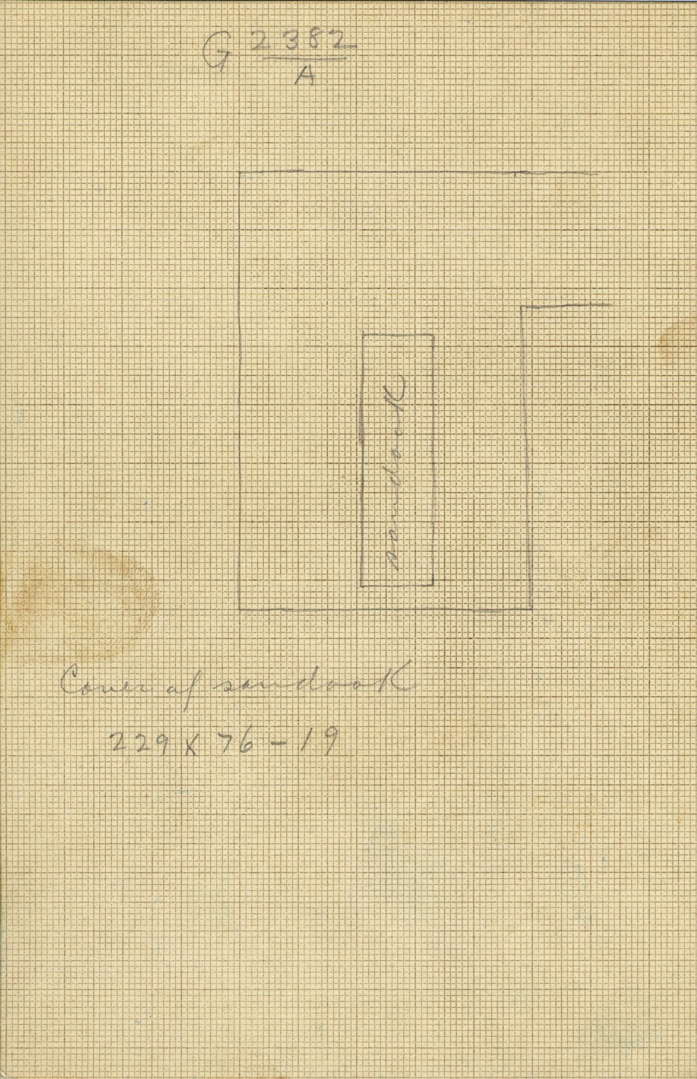 Maps and plans: G 2382, Shaft A
