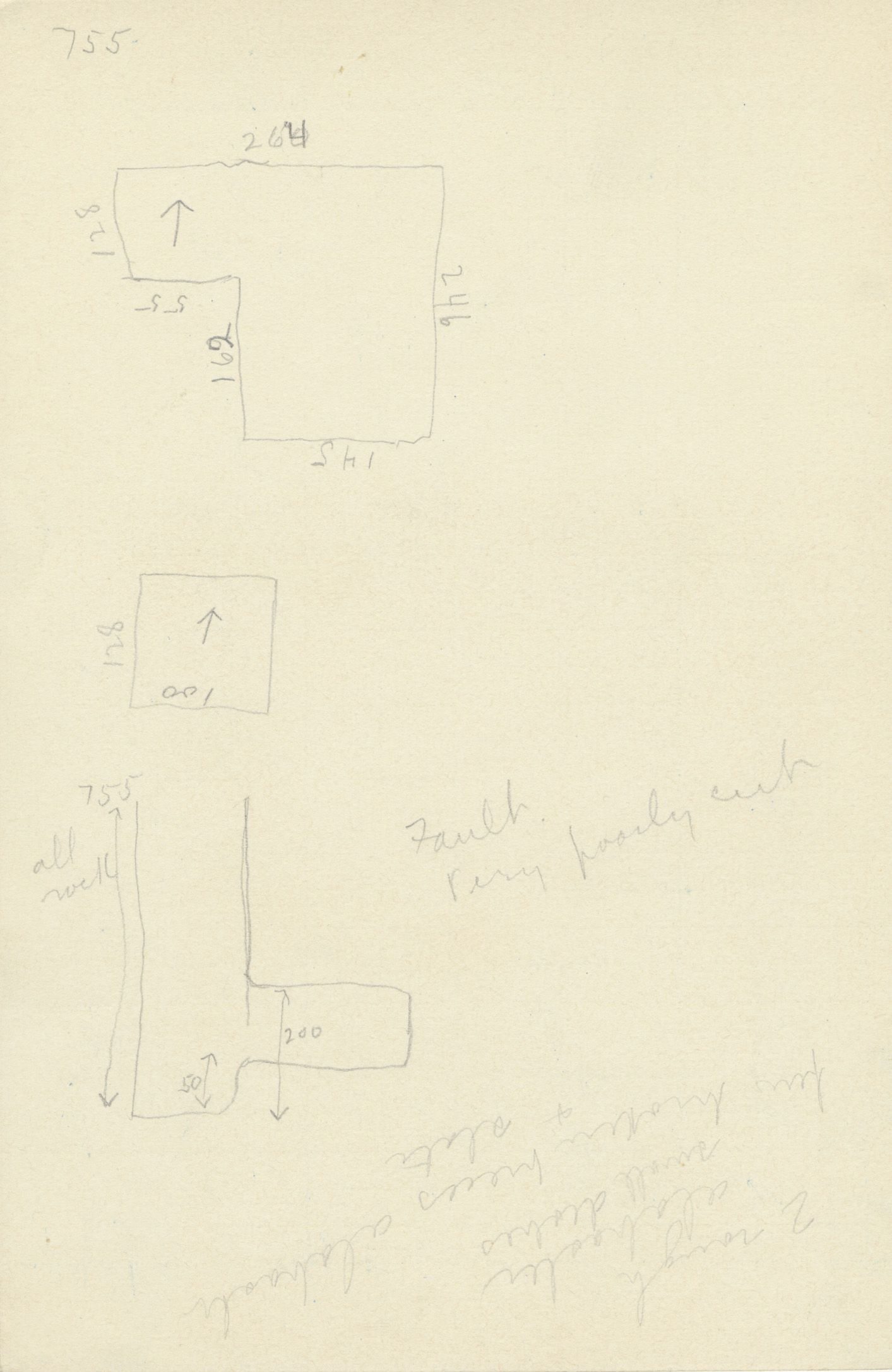 Maps and plans: G 2382, Shaft B, notes