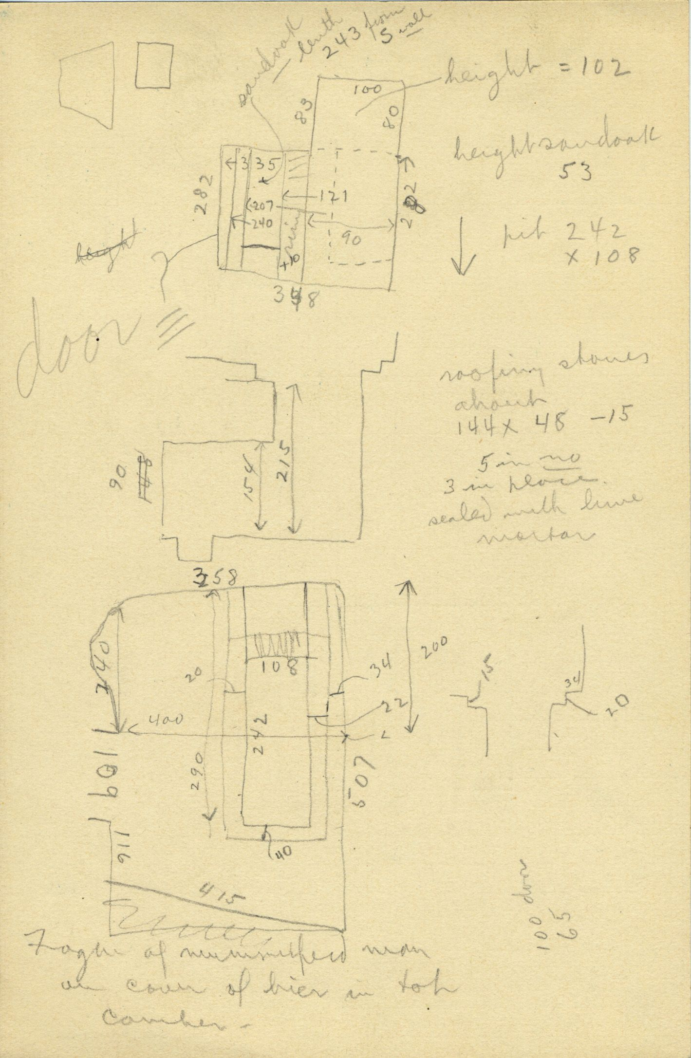 Maps and plans: G 2385, Shaft A, notes