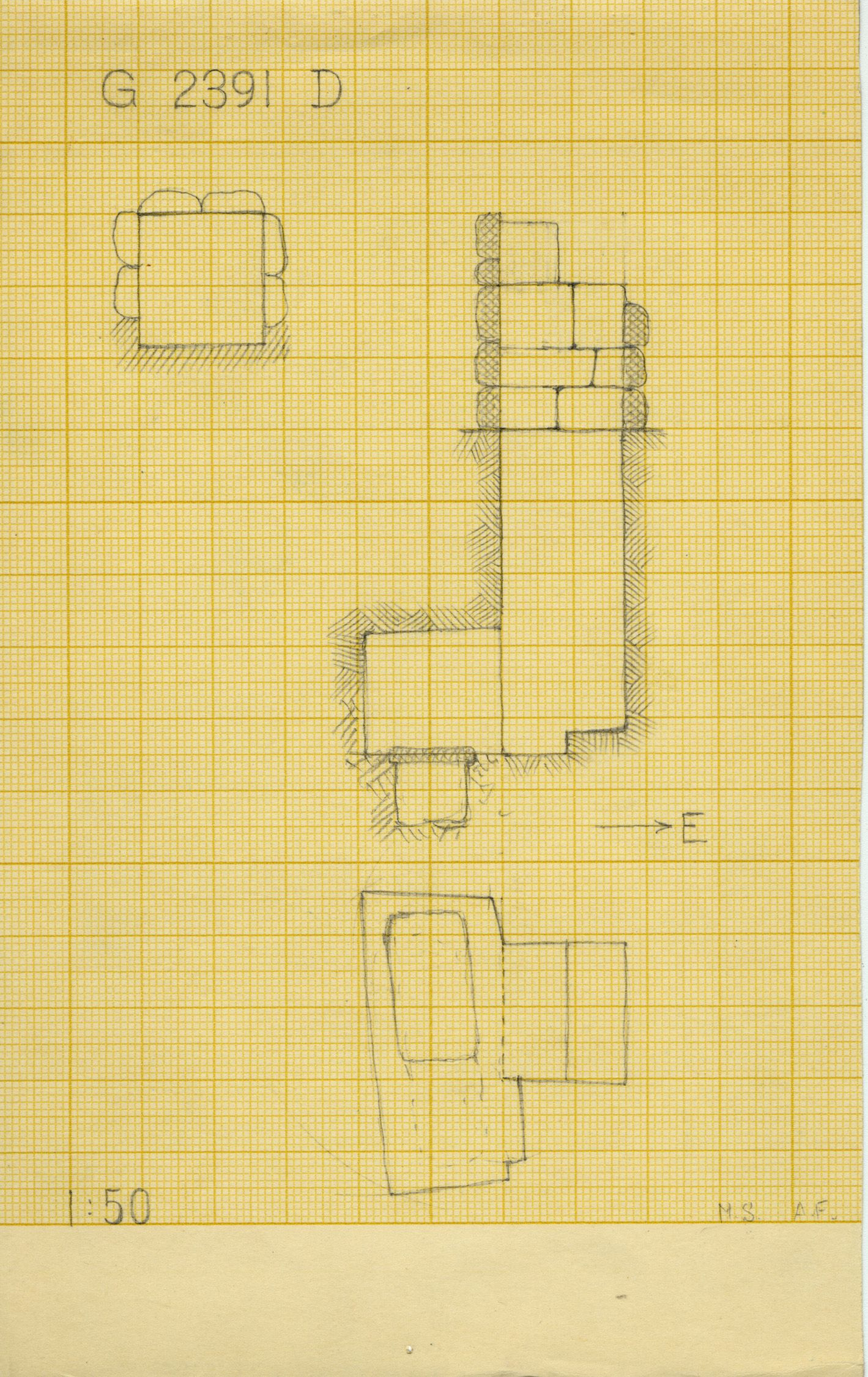 Maps and plans: G 2391, Shaft D