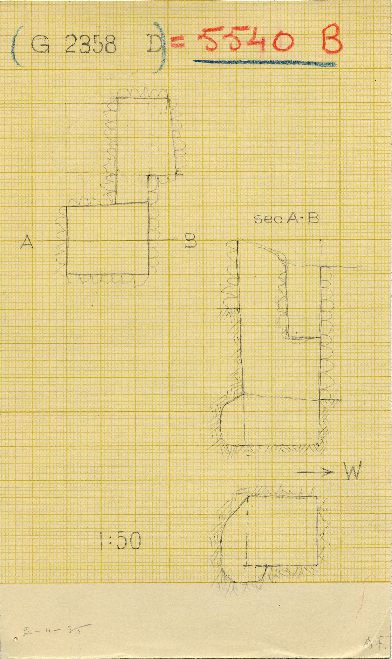Maps and plans: G 2358 D = G 5540, Shaft B