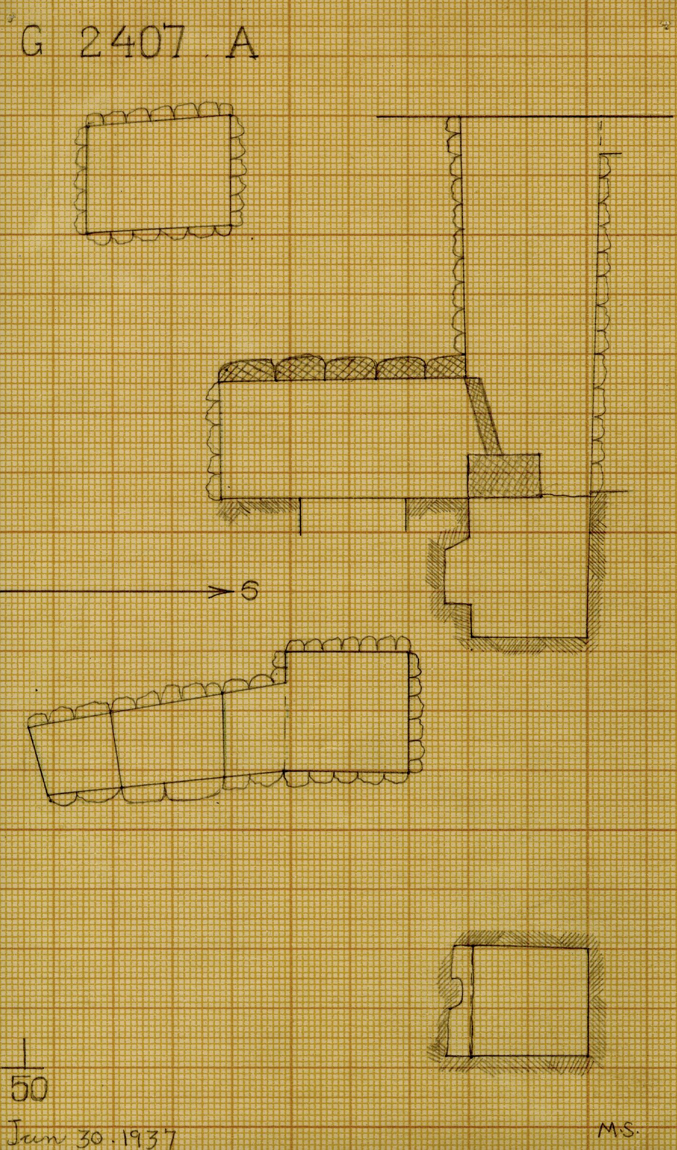 Maps and plans: G 2407, Shaft A