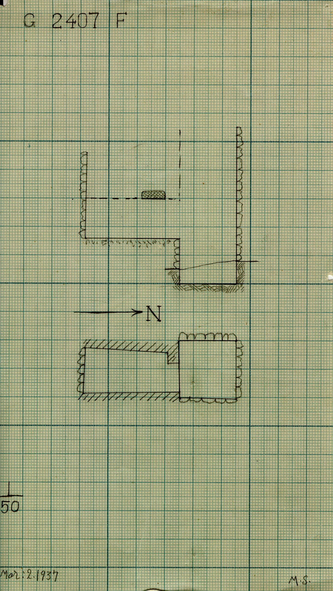 Maps and plans: G 2407, Shaft F