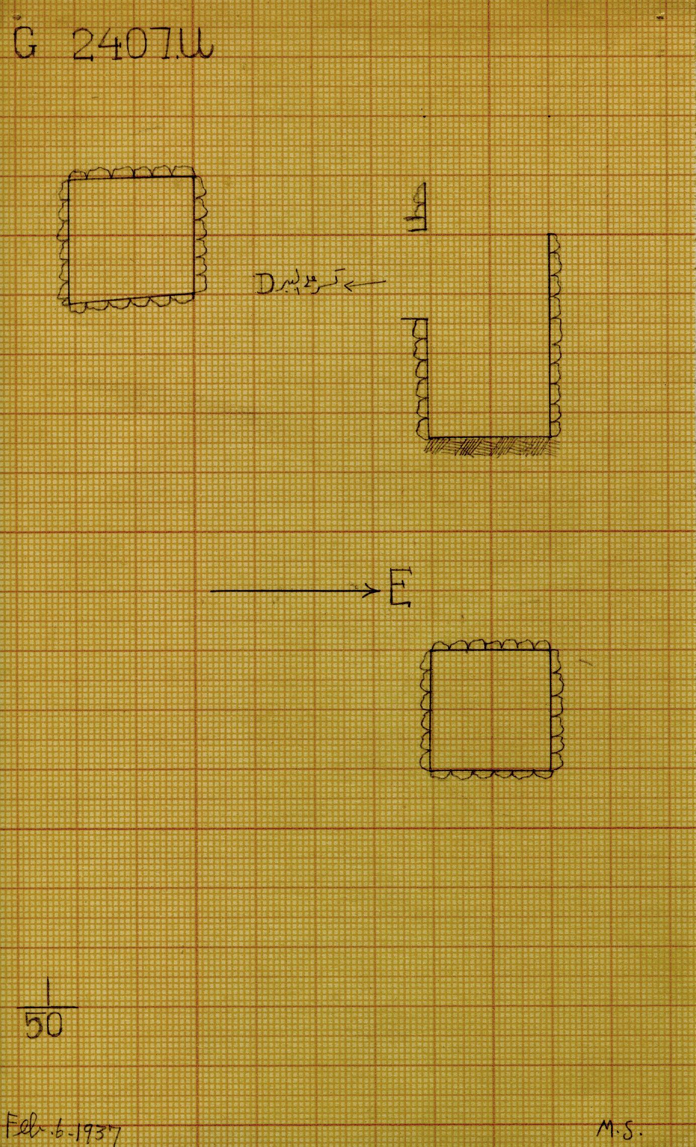 Maps and plans: G 2407, Shaft U