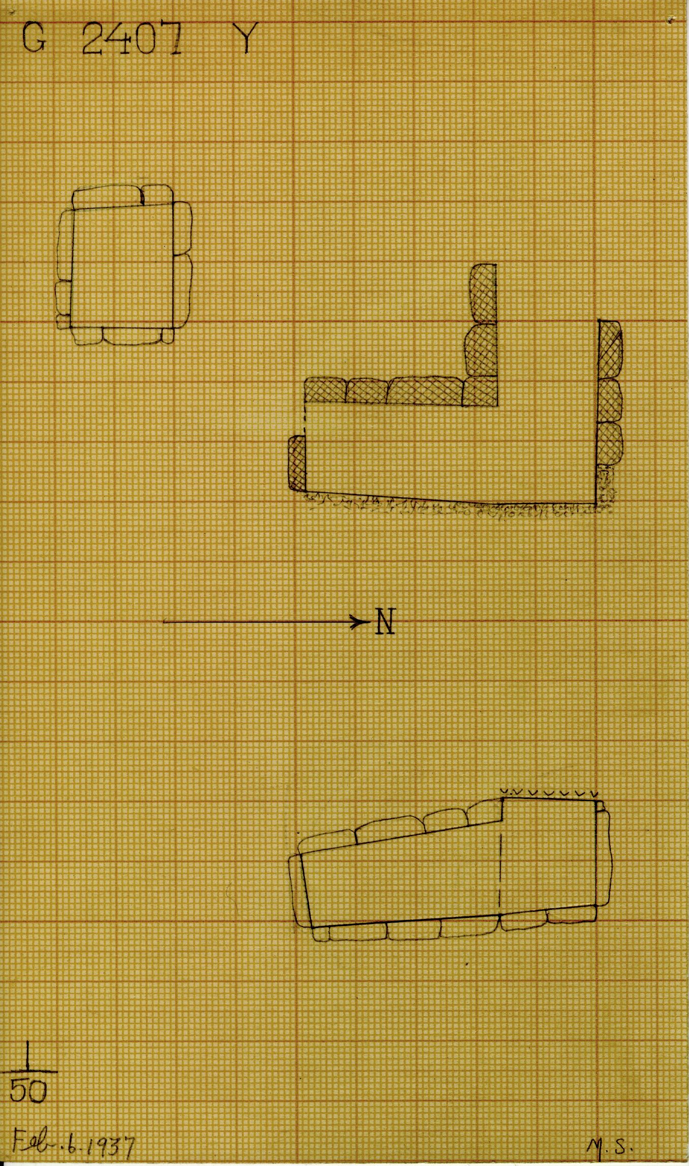 Maps and plans: G 2407, Shaft Y