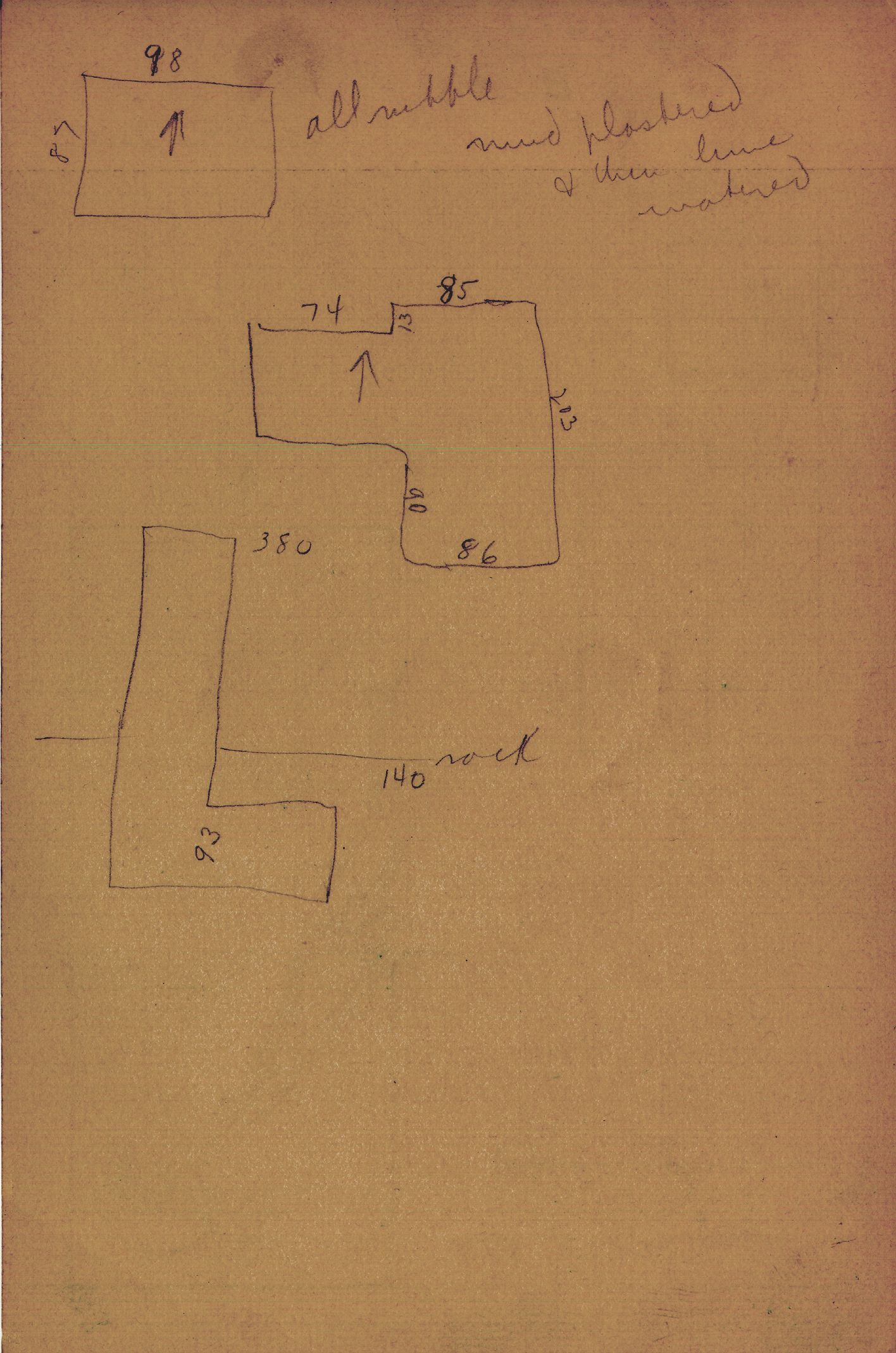 Maps and plans: G 2414, Shaft B, notes