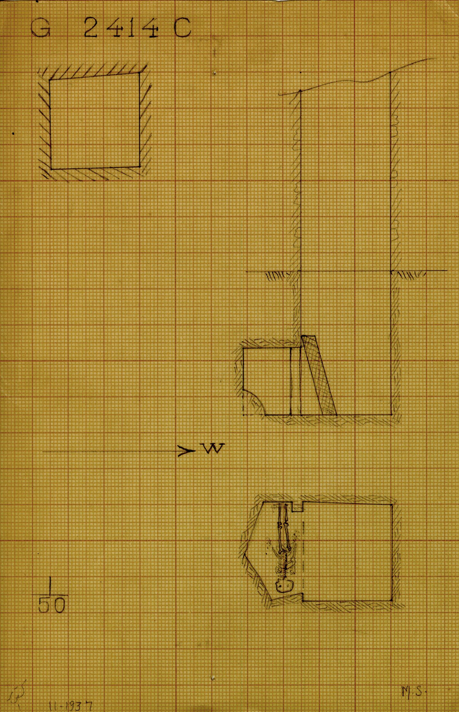 Maps and plans: G 2414, Shaft C