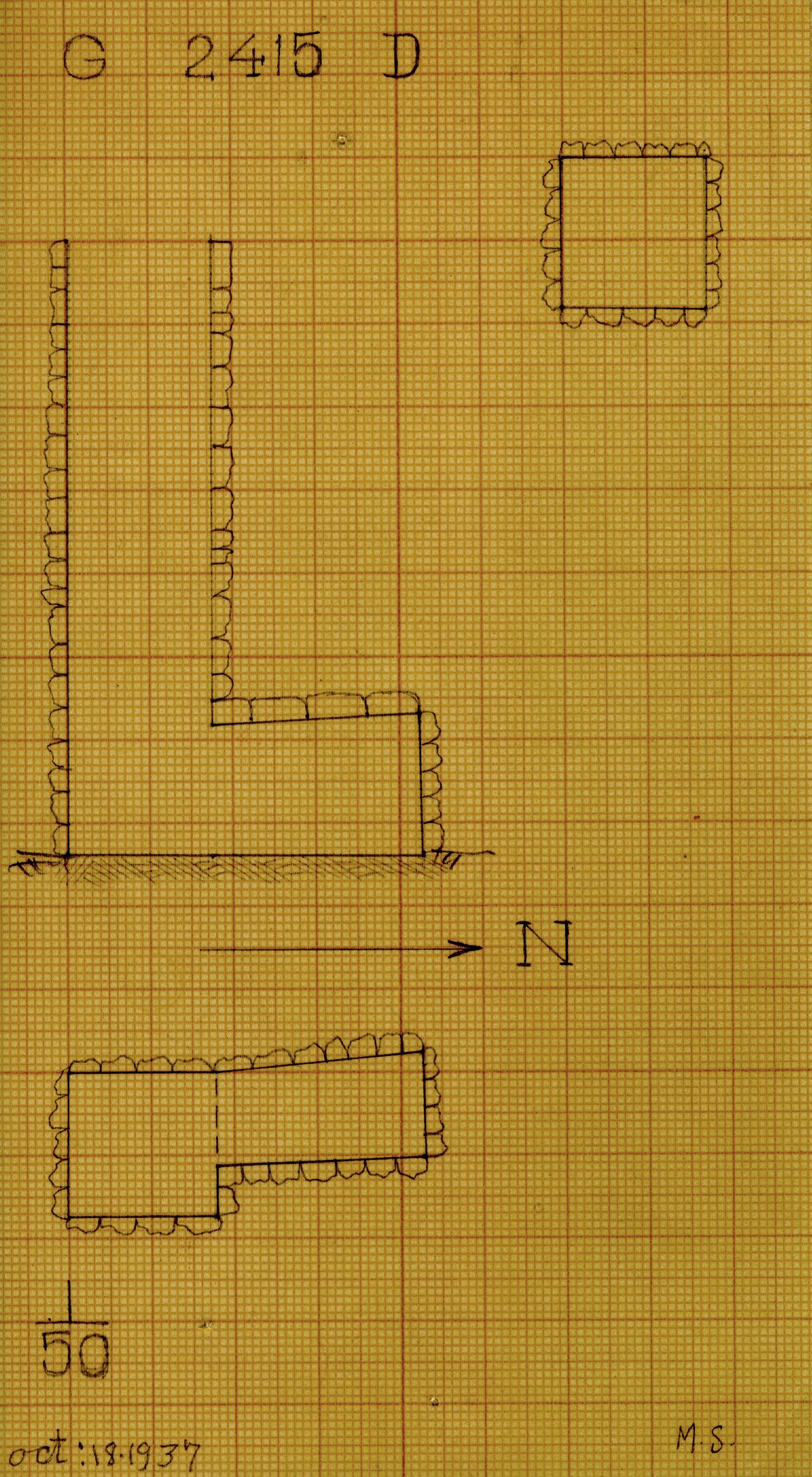 Maps and plans: G 2415, Shaft D