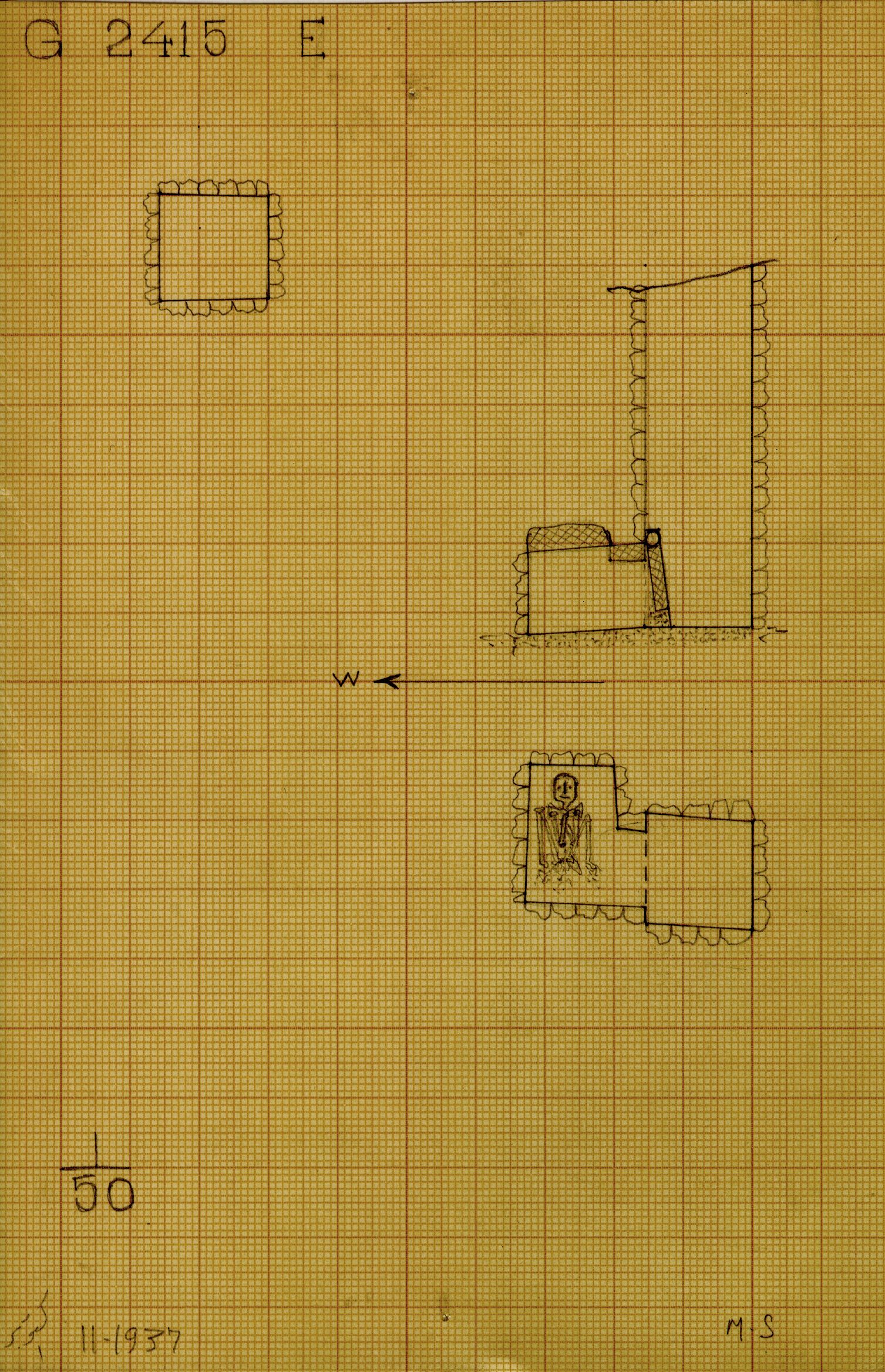Maps and plans: G 2415, Shaft E
