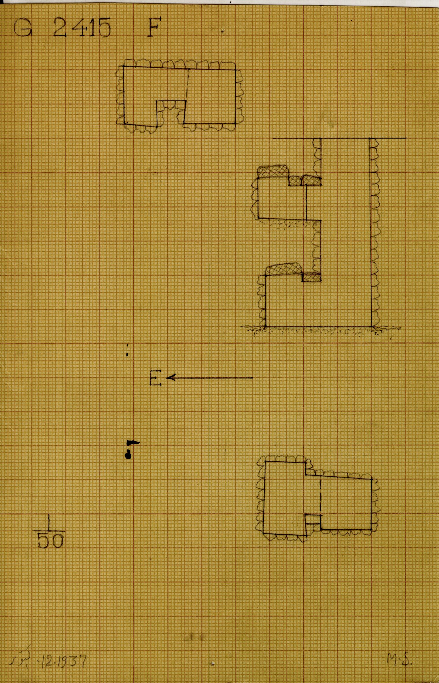 Maps and plans: G 2415, Shaft F