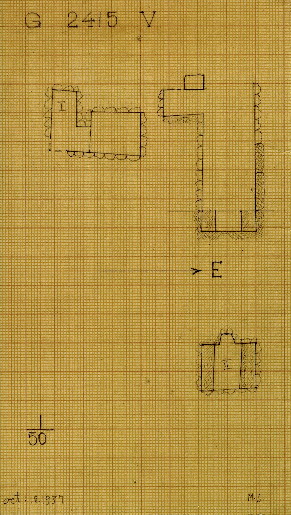 Maps and plans: G 2415, Shaft V