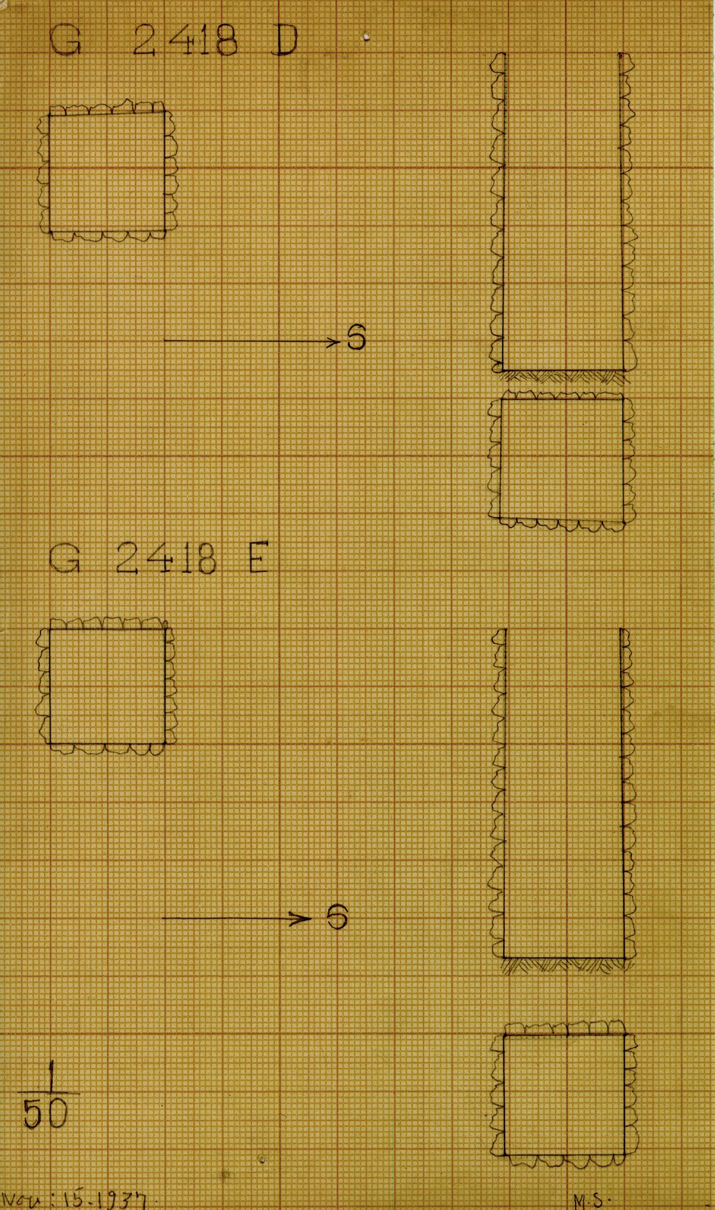 Maps and plans: G 2418, Shaft D and E