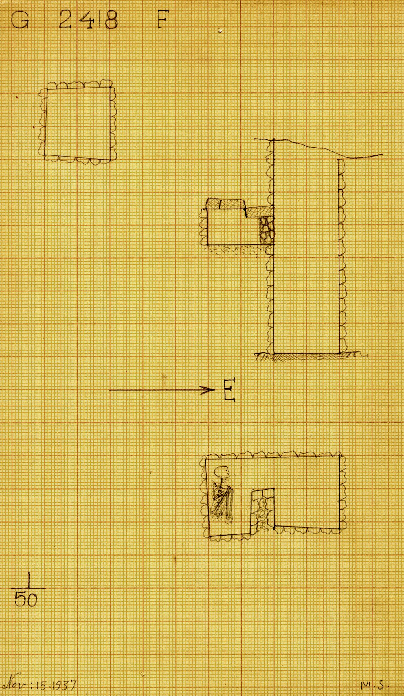 Maps and plans: G 2418, Shaft F