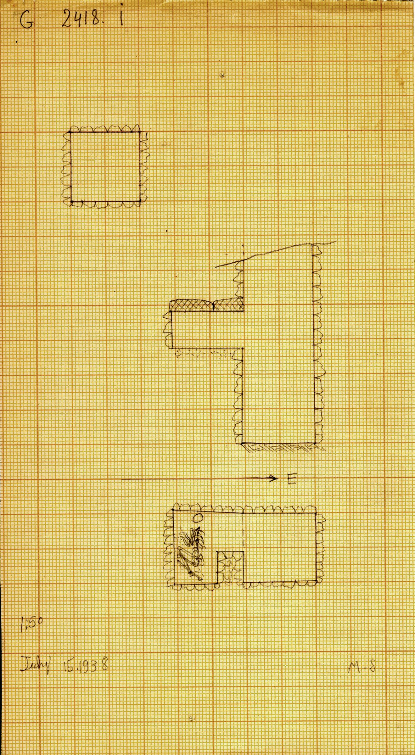 Maps and plans: G 2418, Shaft I