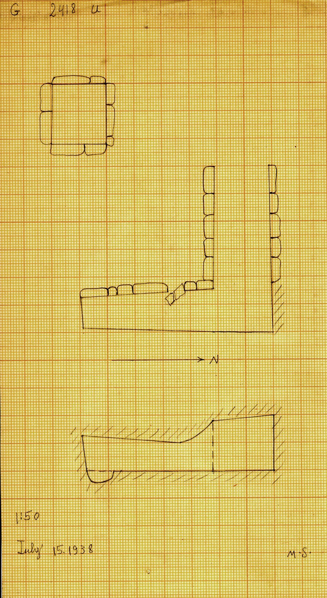 Maps and plans: G 2418, Shaft U