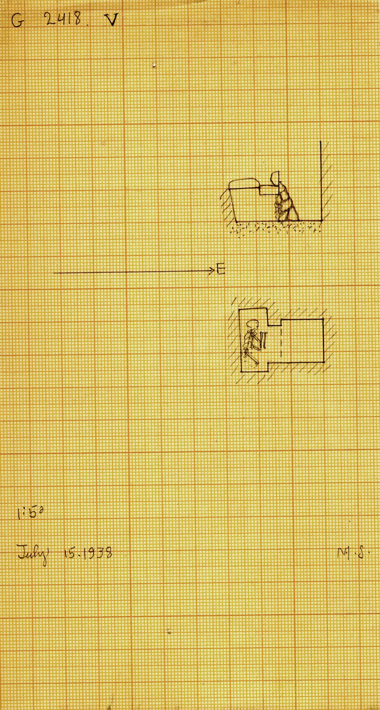 Maps and plans: G 2418, Shaft V