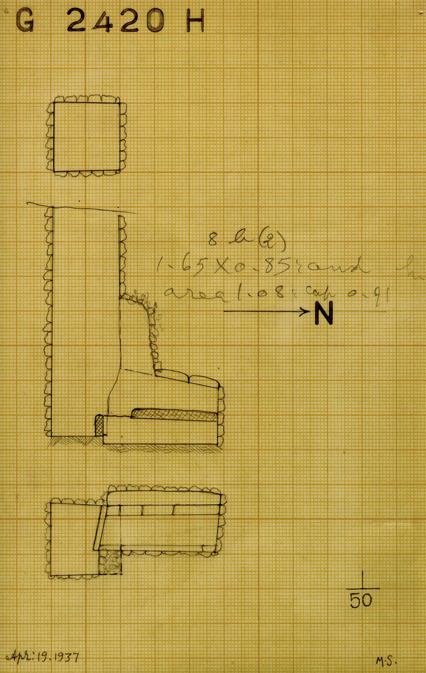 Maps and plans: G 2420, Shaft H