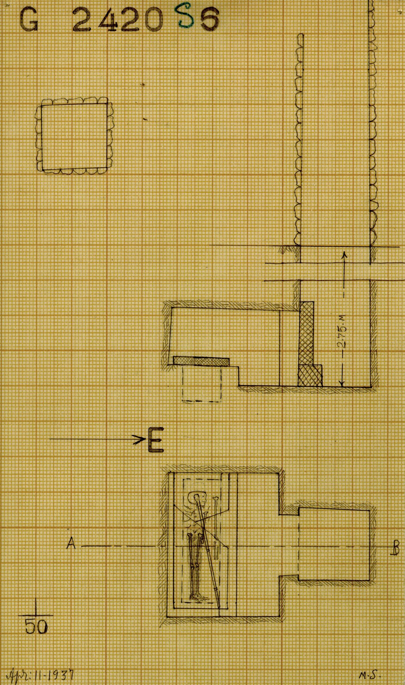 Maps and plans: G 2420, Shaft S