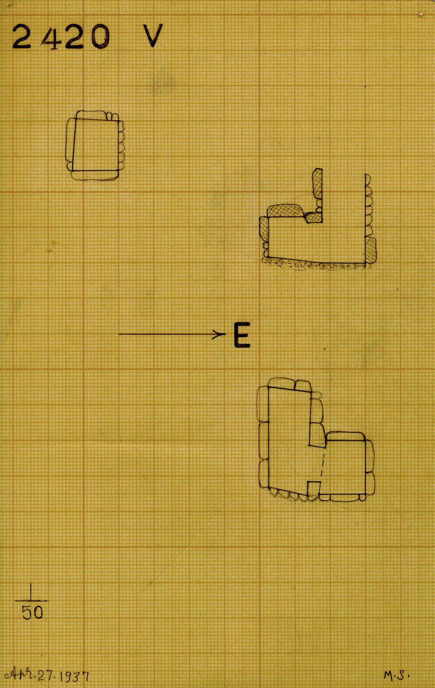 Maps and plans: G 2420, Shaft V