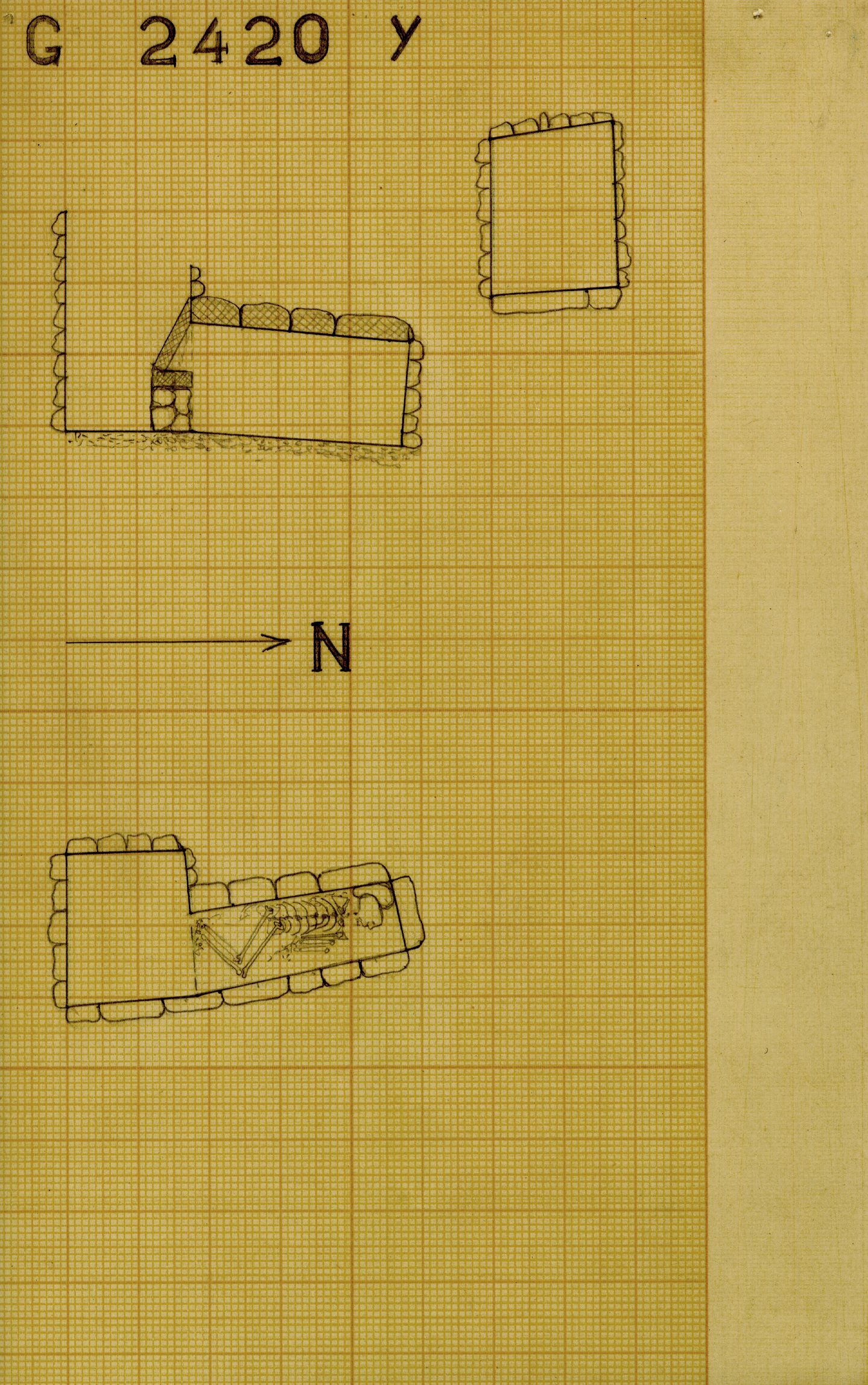 Maps and plans: G 2420, Shaft Y
