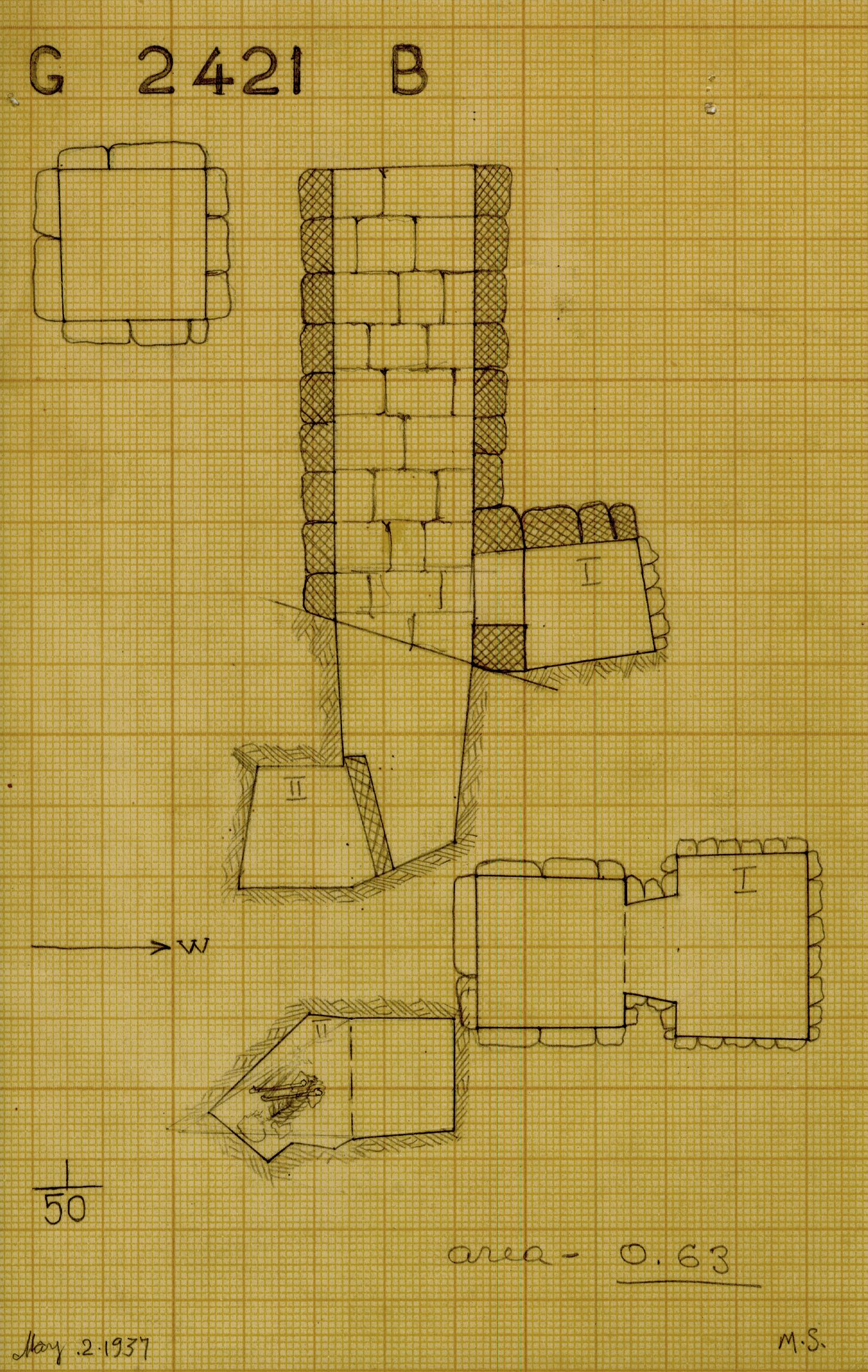 Maps and plans: G 2421, Shaft B