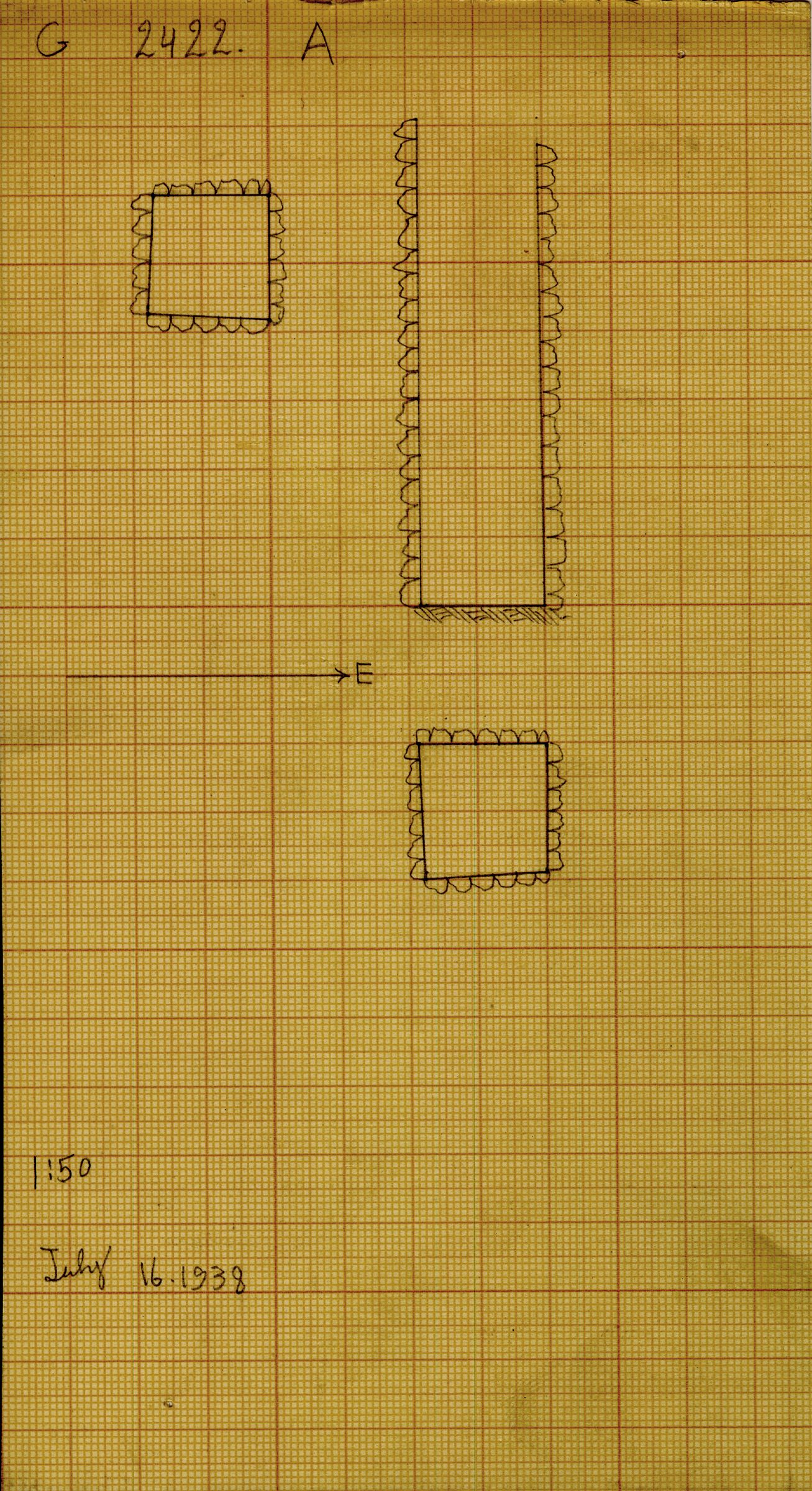 Maps and plans: G 2422, Shaft A