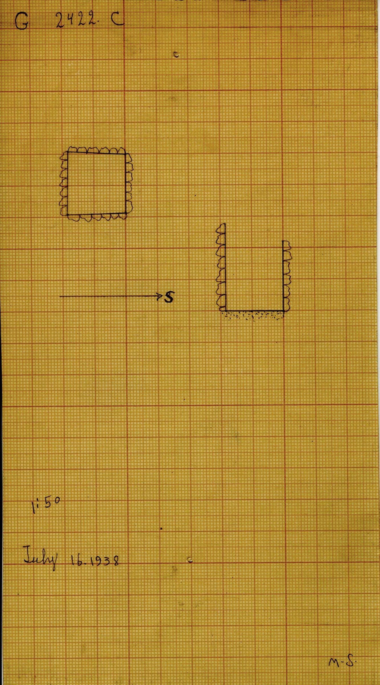 Maps and plans: G 2422, Shaft C