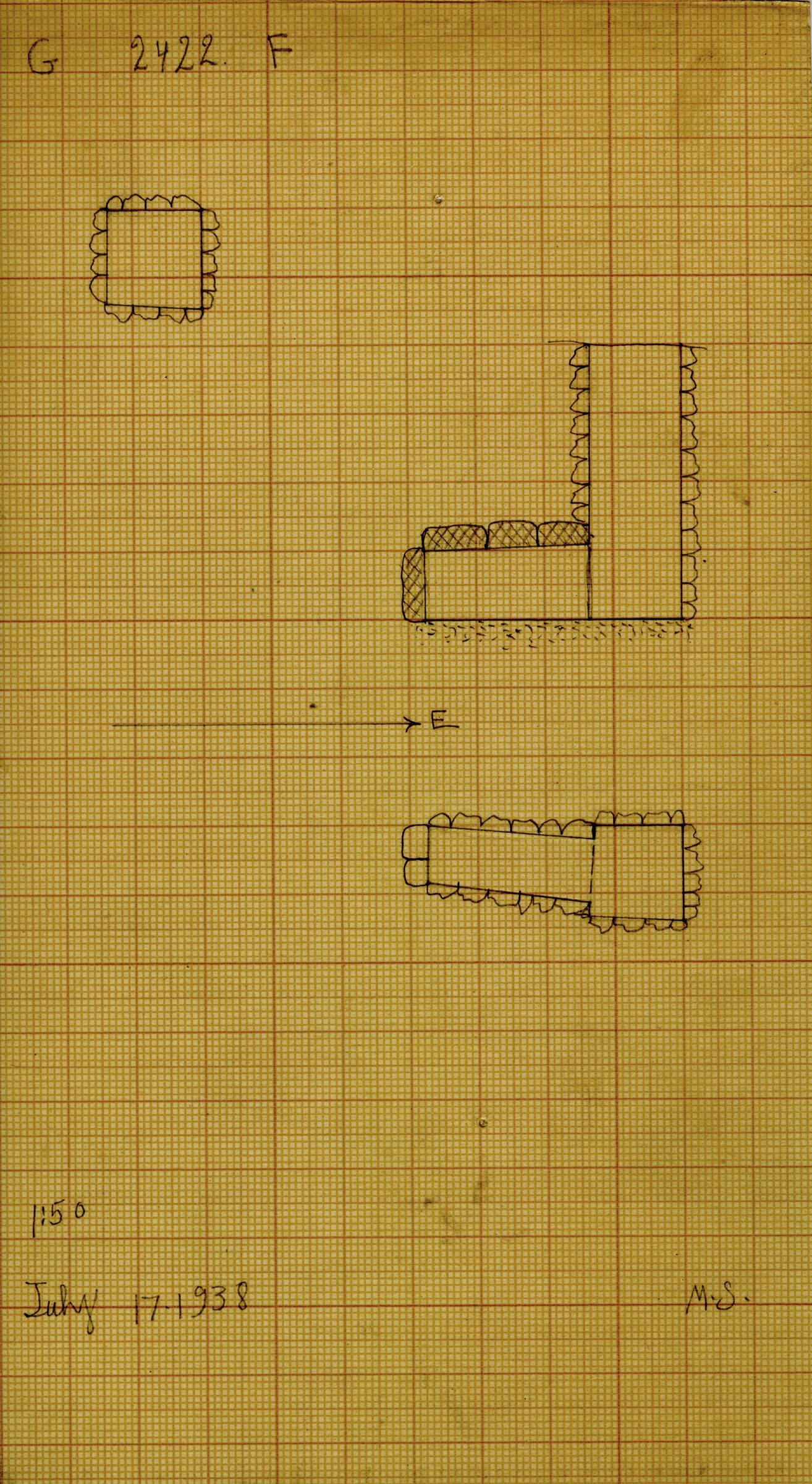 Maps and plans: G 2422, Shaft F
