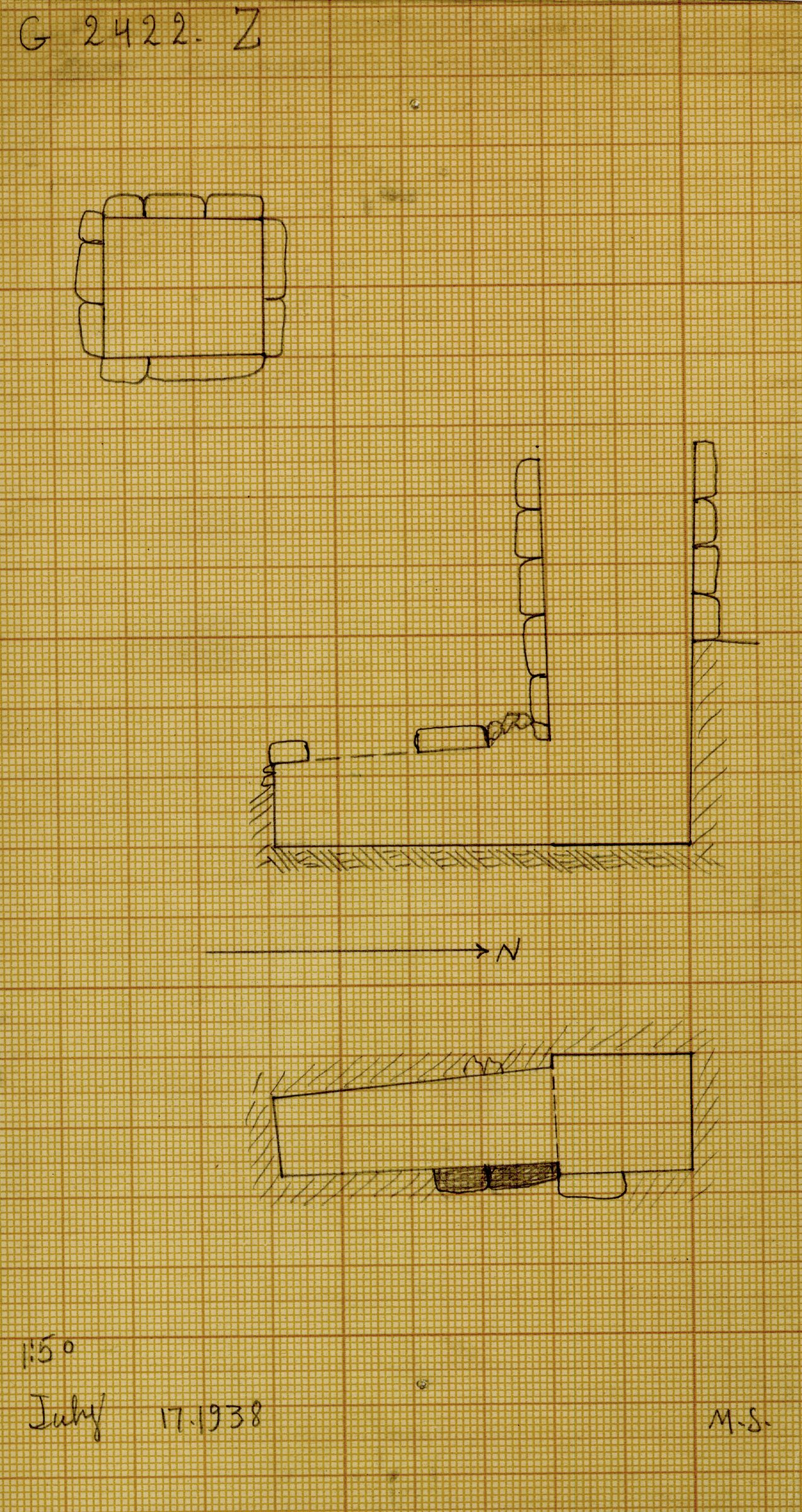Maps and plans: G 2422, Shaft Z