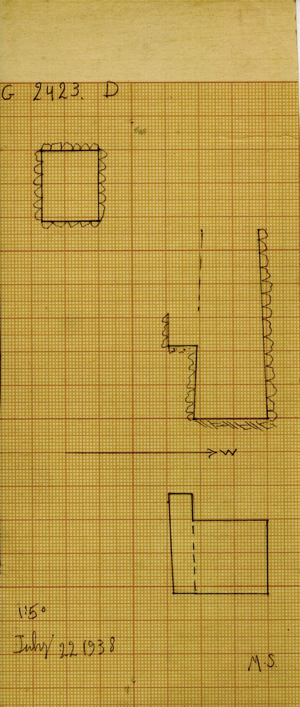 Maps and plans: G 2423, Shaft D