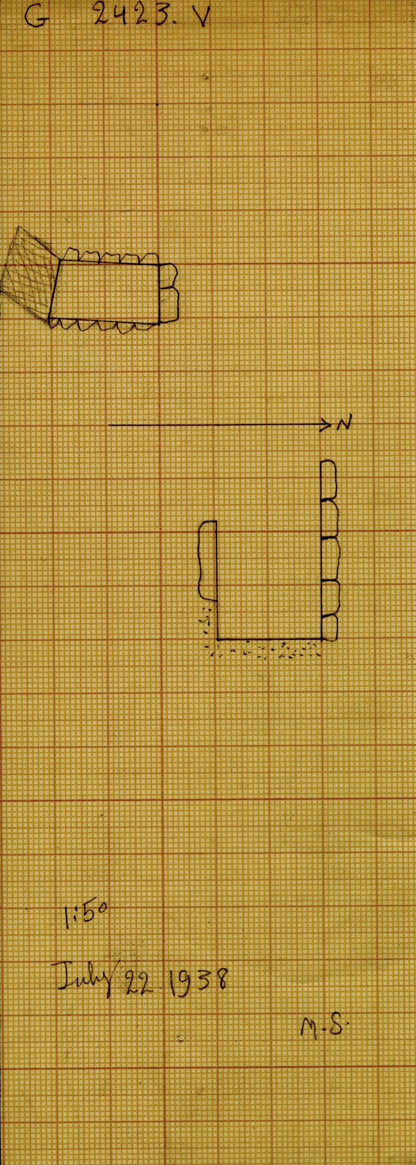 Maps and plans: G 2423, Shaft V