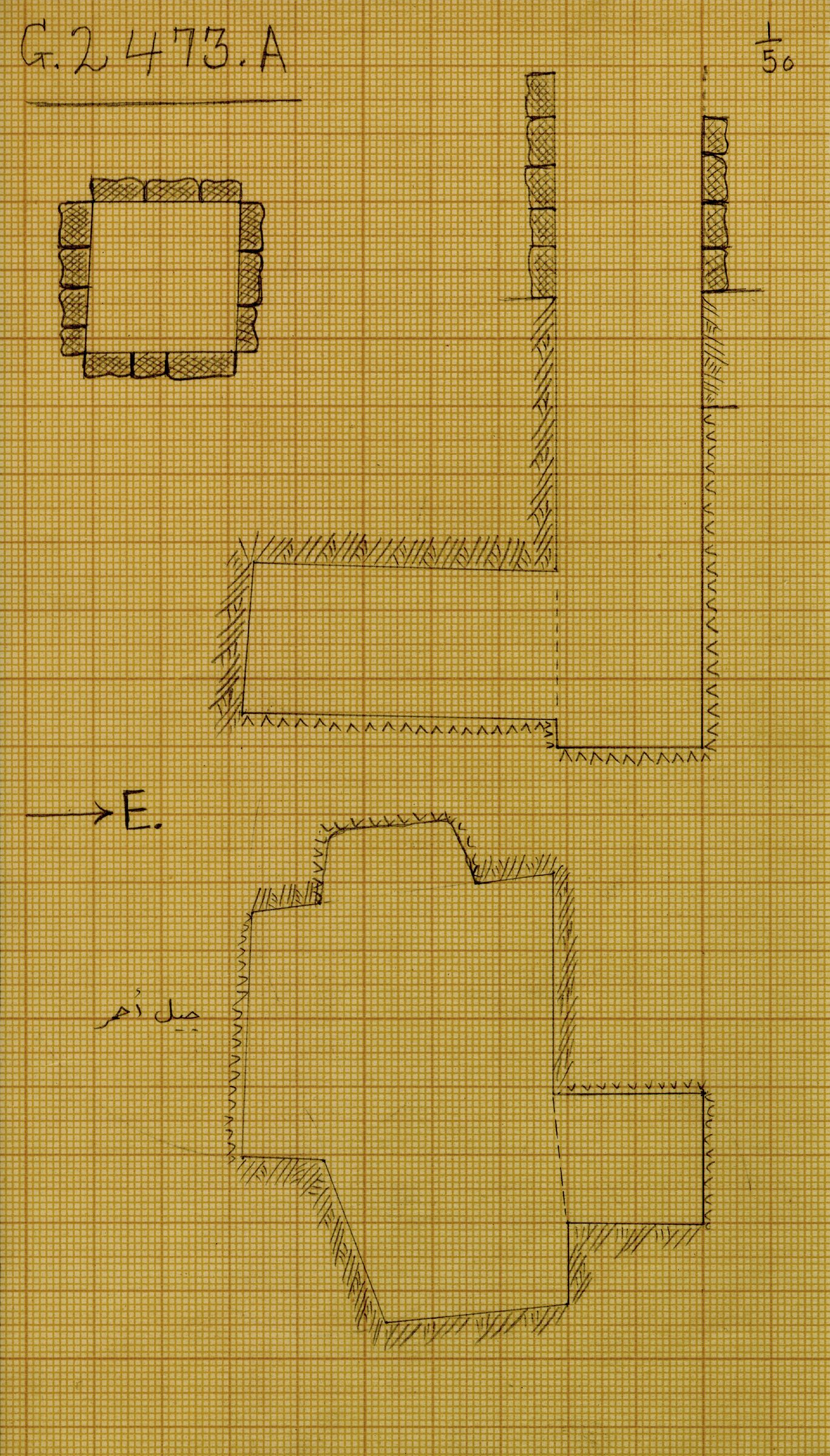 Maps and plans: G 2473, Shaft A