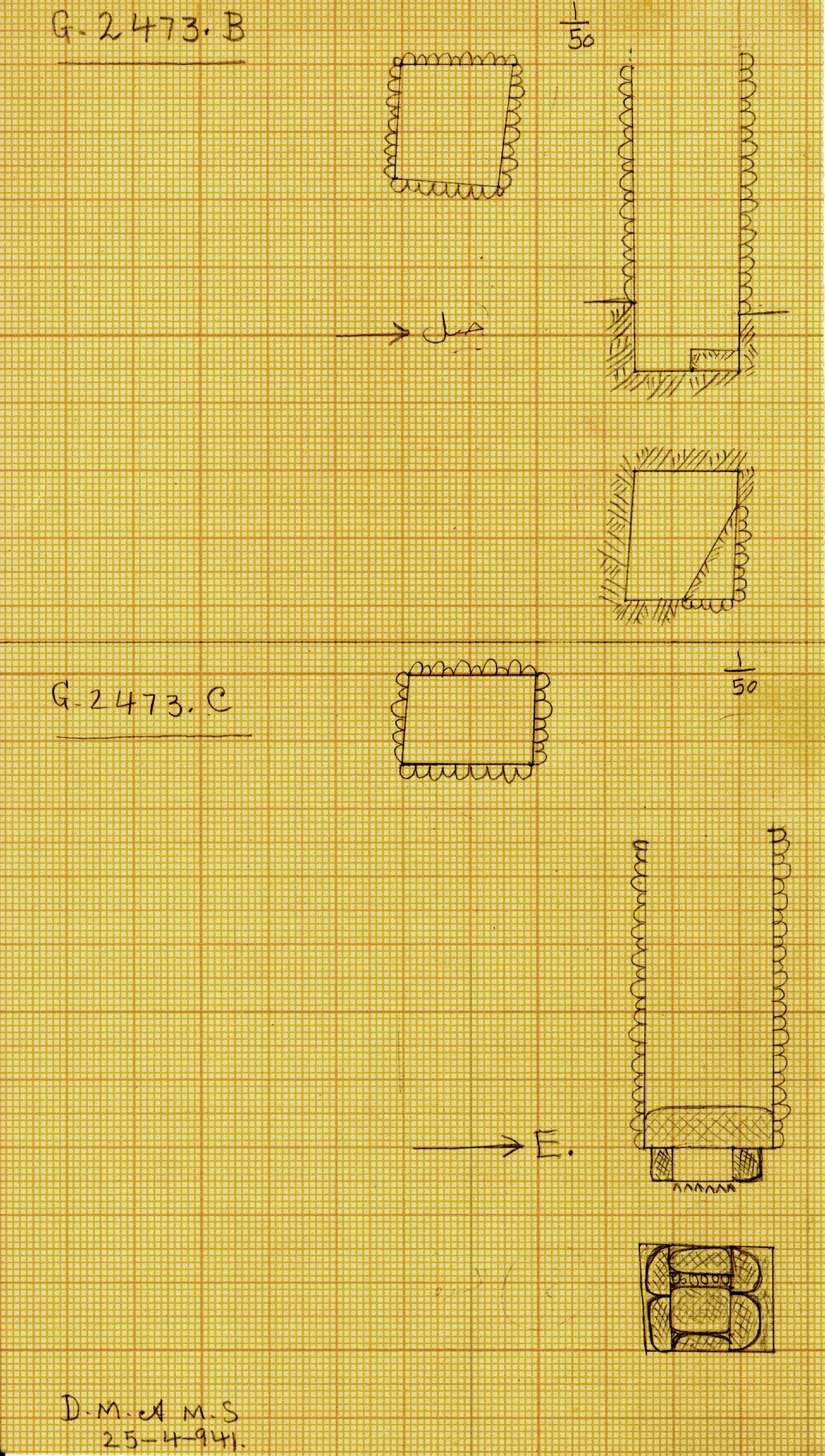 Maps and plans: G 2473, Shaft B and C